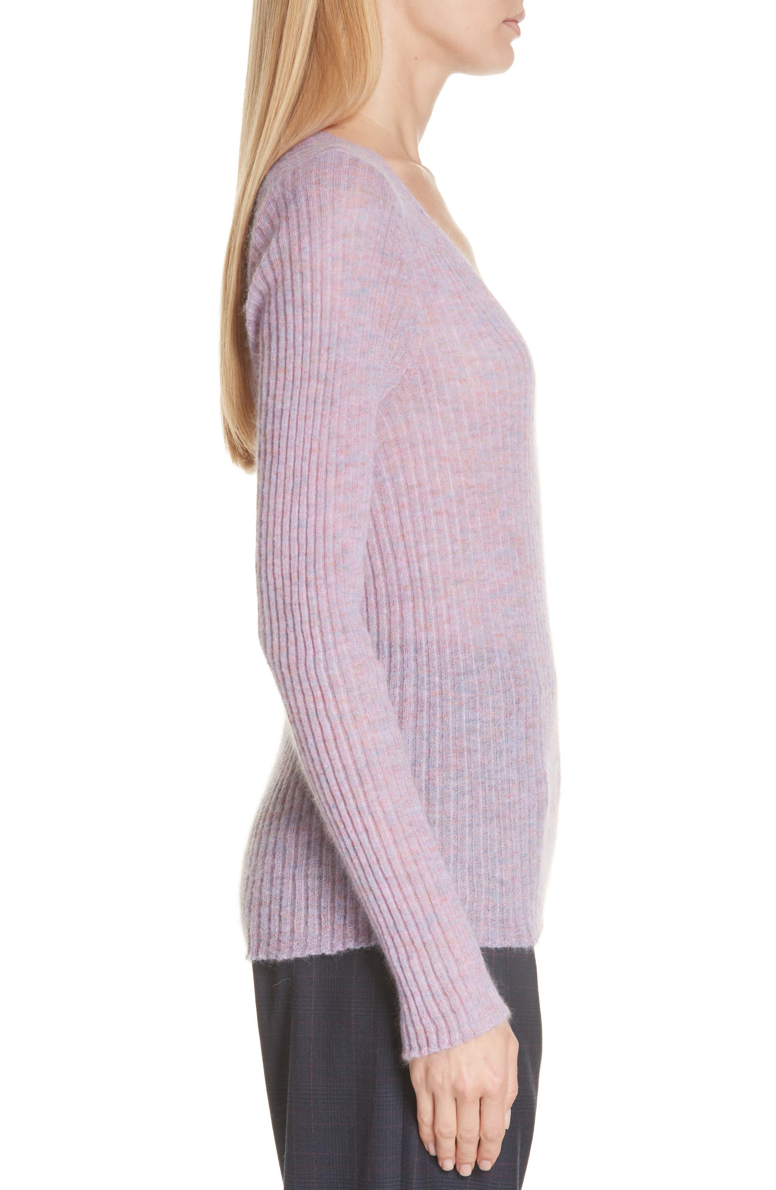 RAG & BONE, Donna Mohair Blend Sweater, Alternate thumbnail 3, color, LILAC