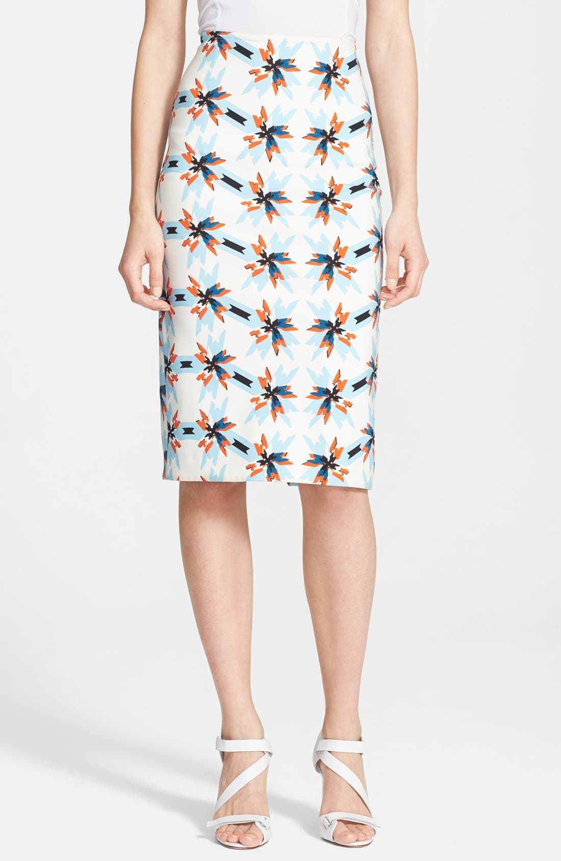TANYA TAYLOR 'Bundy' Print Pencil Skirt, Main, color, 400