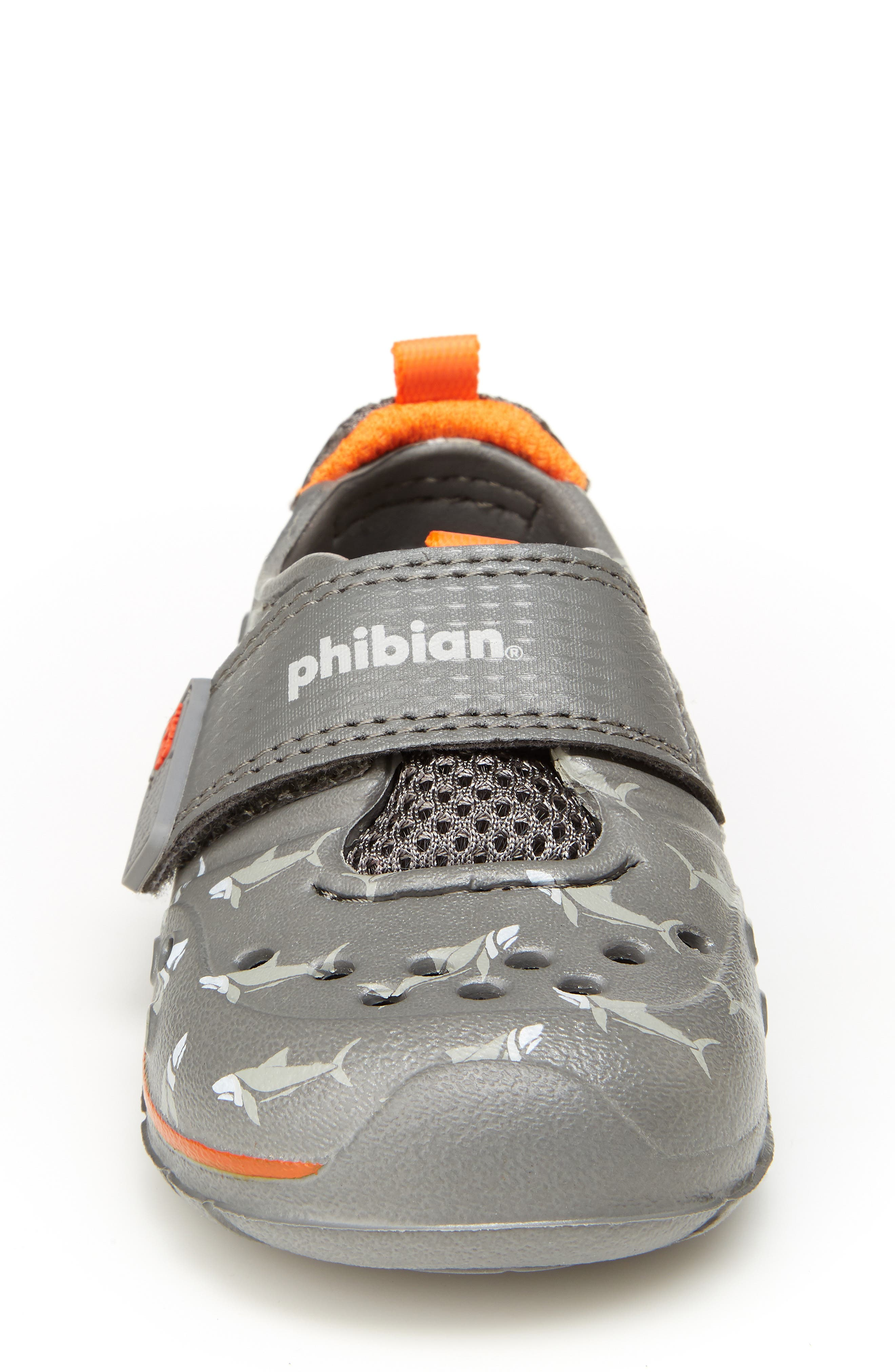 STRIDE RITE, Made2Play<sup>®</sup> Phibian Sneaker, Alternate thumbnail 3, color, GREY SHARK EVA