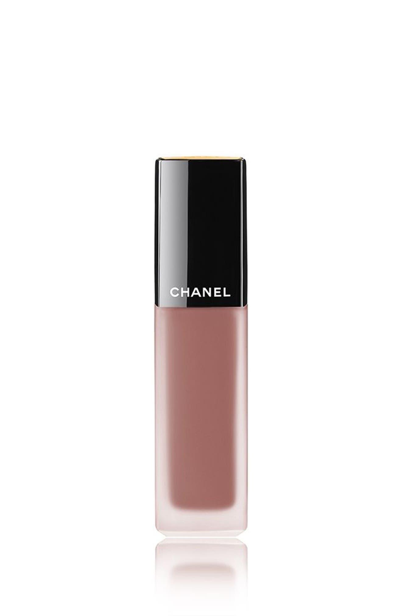 CHANEL, ROUGE ALLURE INK Matte Liquid Lip Colour, Main thumbnail 1, color, 178 ROSY BROWN