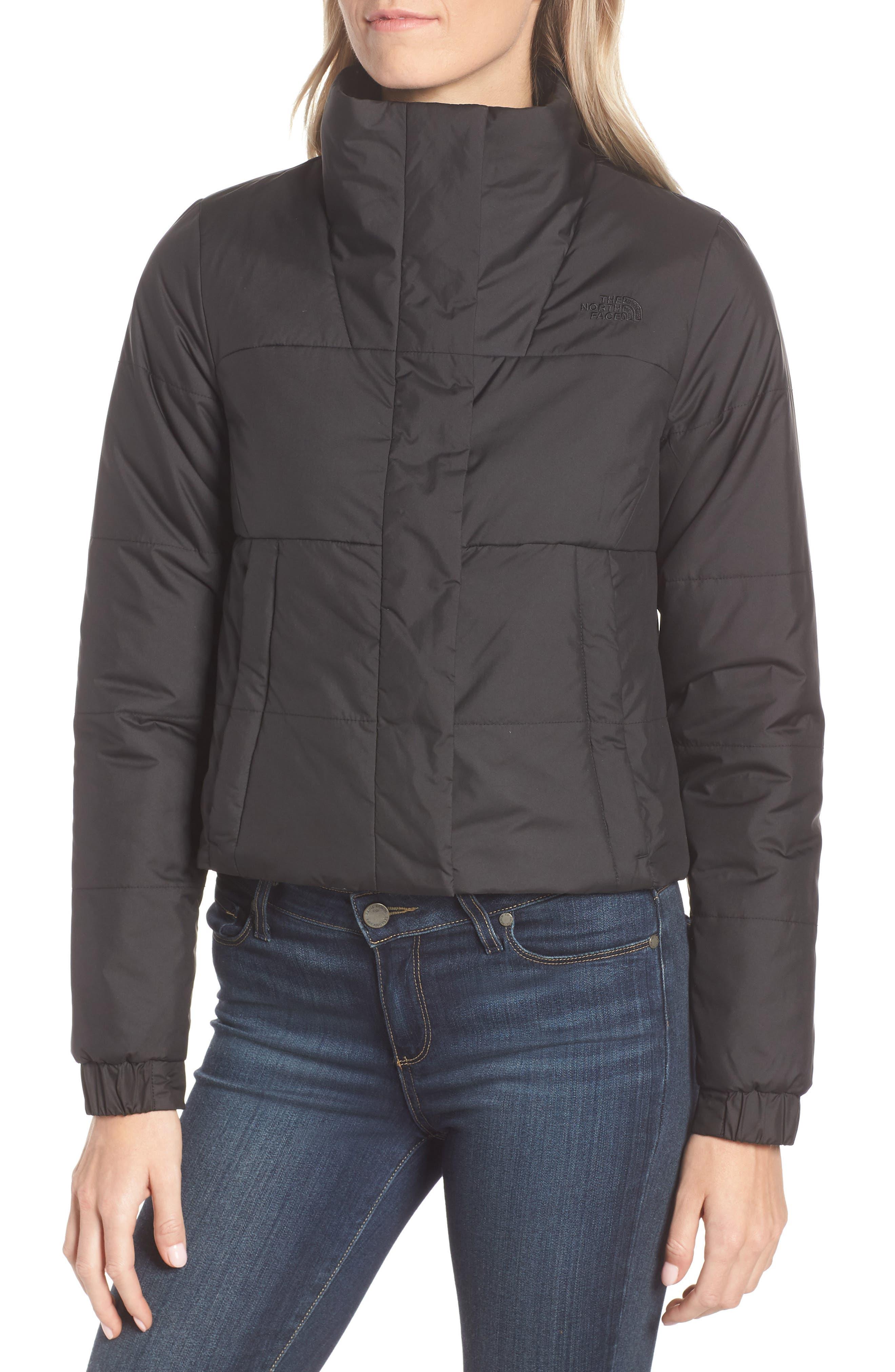 THE NORTH FACE, Femtastic Heatseeker Insulated Jacket, Alternate thumbnail 5, color, TNF BLACK