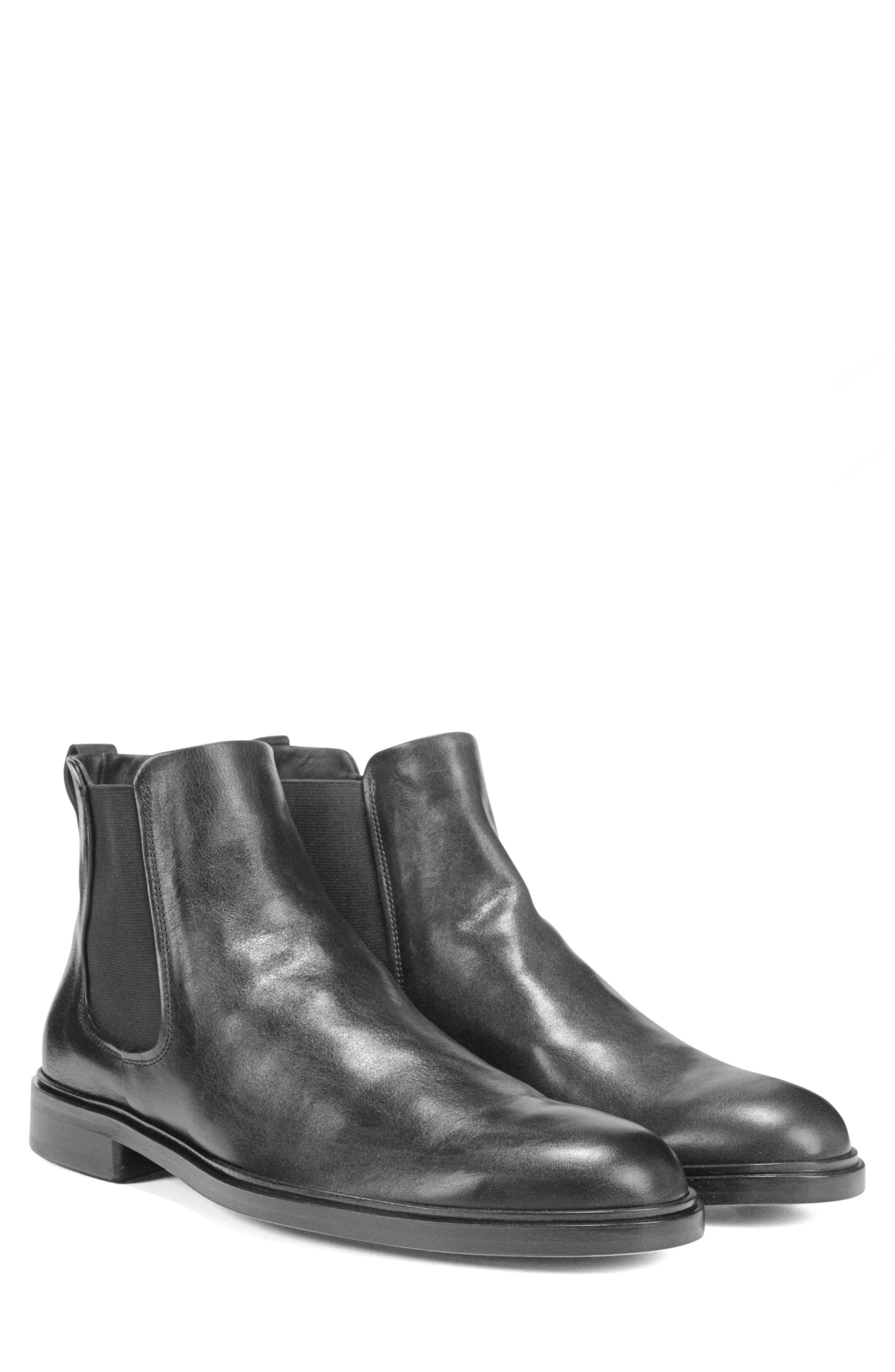 VINCE, Burroughs Chelsea Boot, Alternate thumbnail 7, color, BLACK