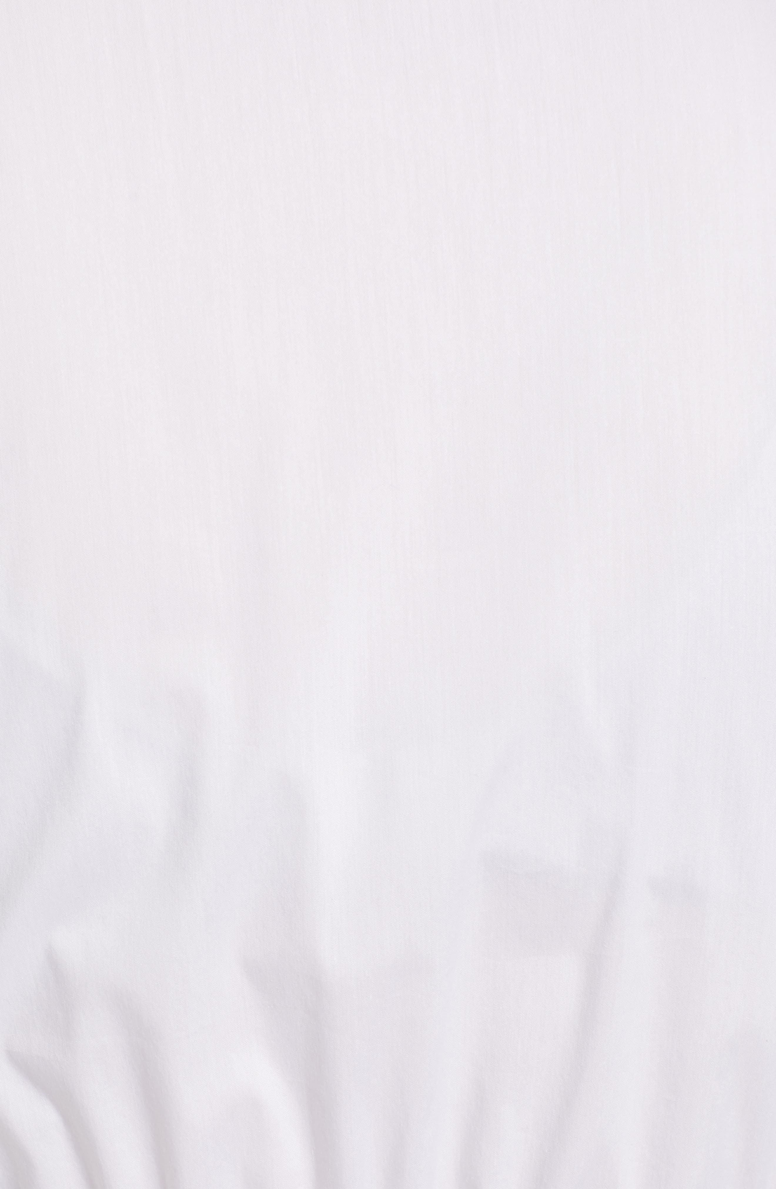1901, Tie Waist Peplum Top, Alternate thumbnail 5, color, WHITE
