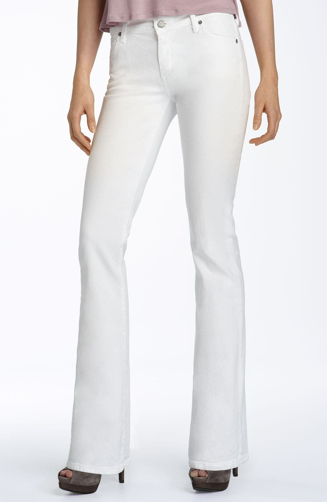 CITIZENS OF HUMANITY, 'Amber' Mid Rise Bootcut Stretch Jeans, Alternate thumbnail 2, color, 100
