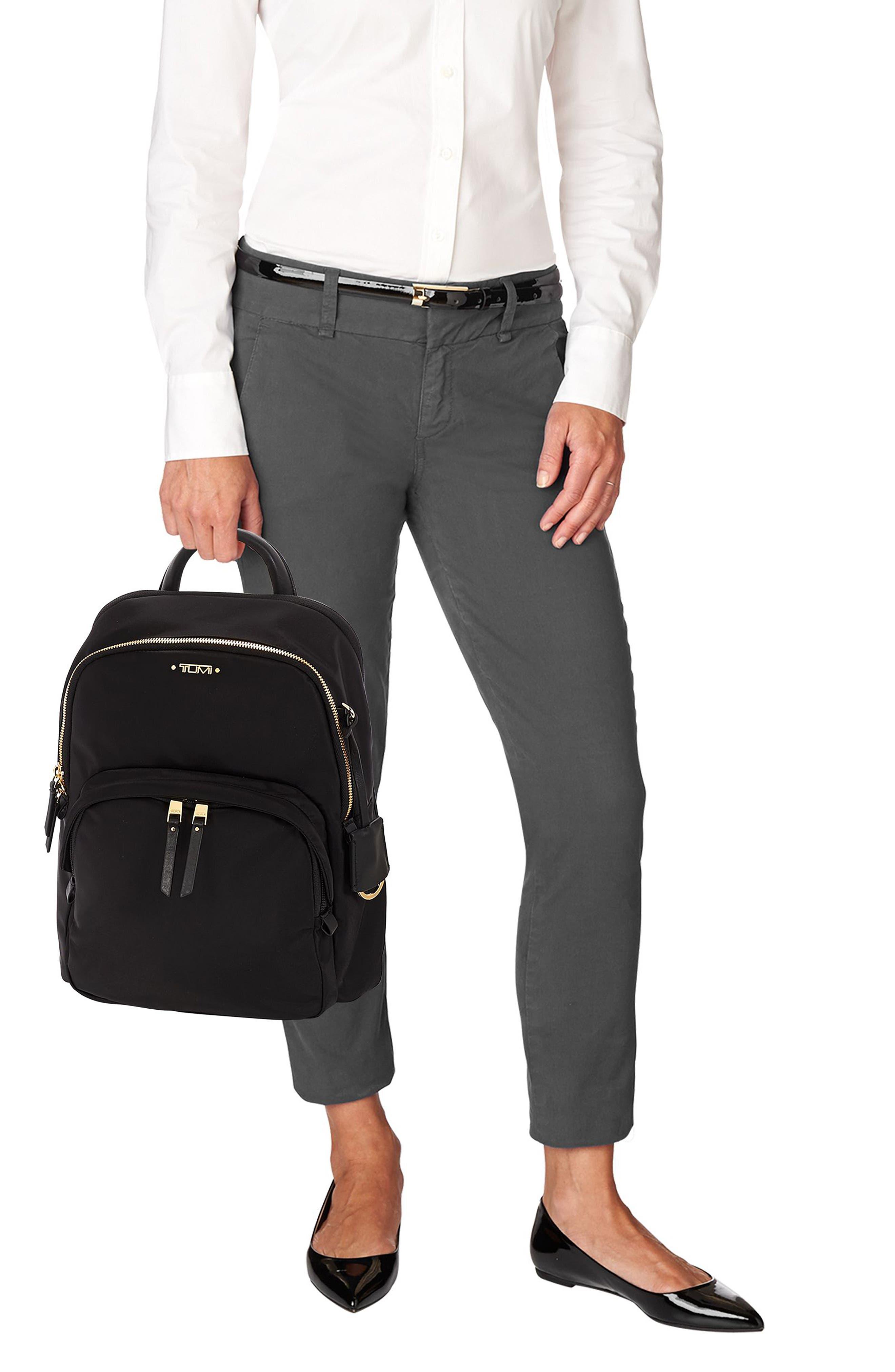 TUMI, Voyageur Dori Nylon Backpack, Alternate thumbnail 2, color, BLACK