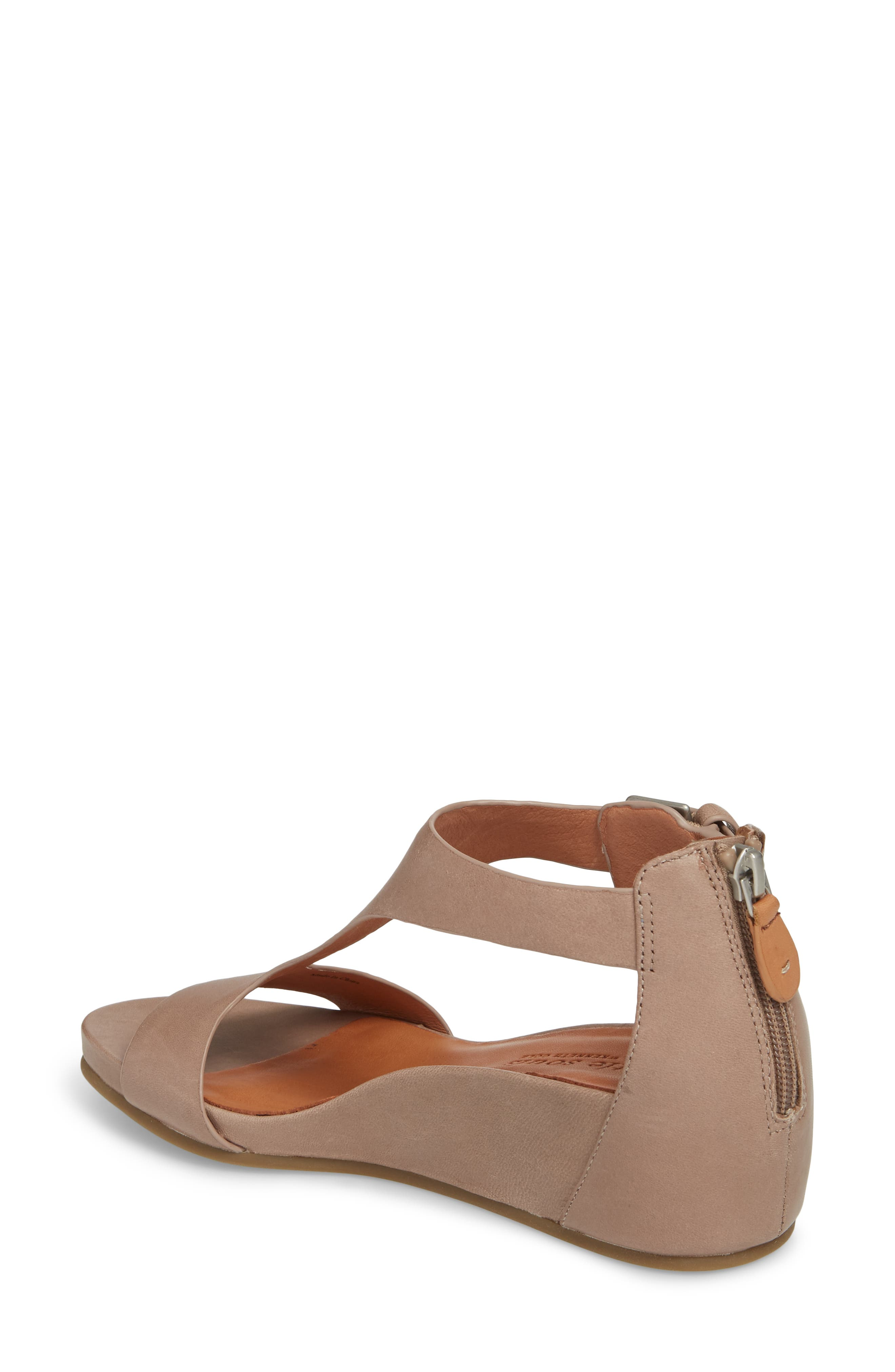 GENTLE SOULS BY KENNETH COLE, Gisele Wedge Sandal, Alternate thumbnail 2, color, PUTTY LEATHER