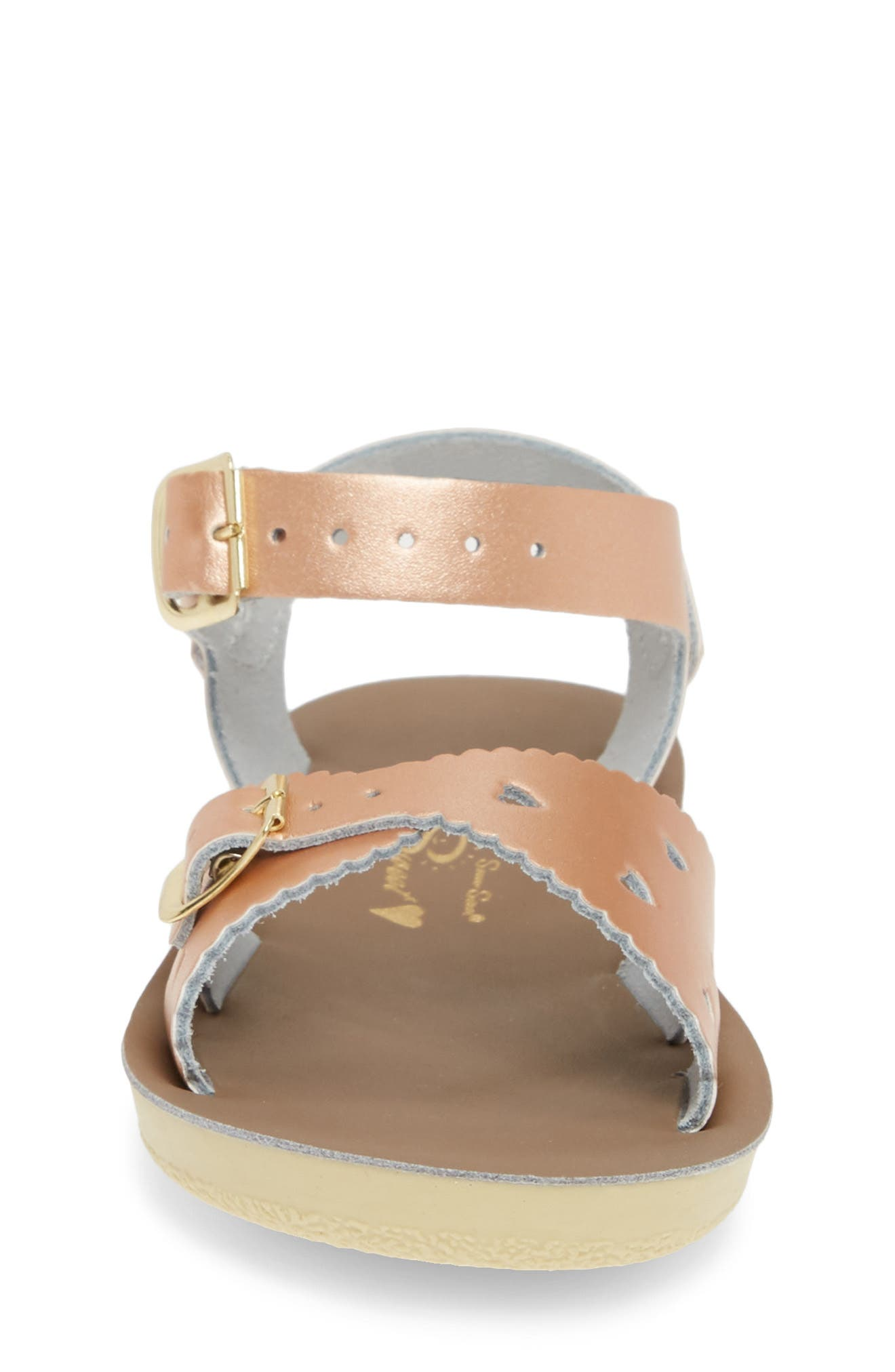 SALT WATER SANDALS BY HOY, Sweetheart Sandal, Alternate thumbnail 4, color, ROSE GOLD