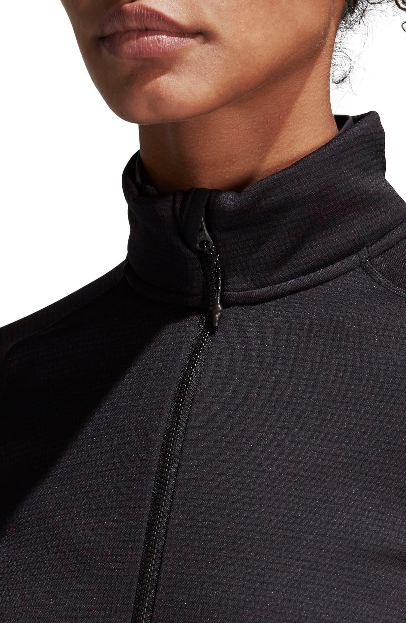 ADIDAS, Stockhorn Fleece Jacket, Alternate thumbnail 7, color, BLACK