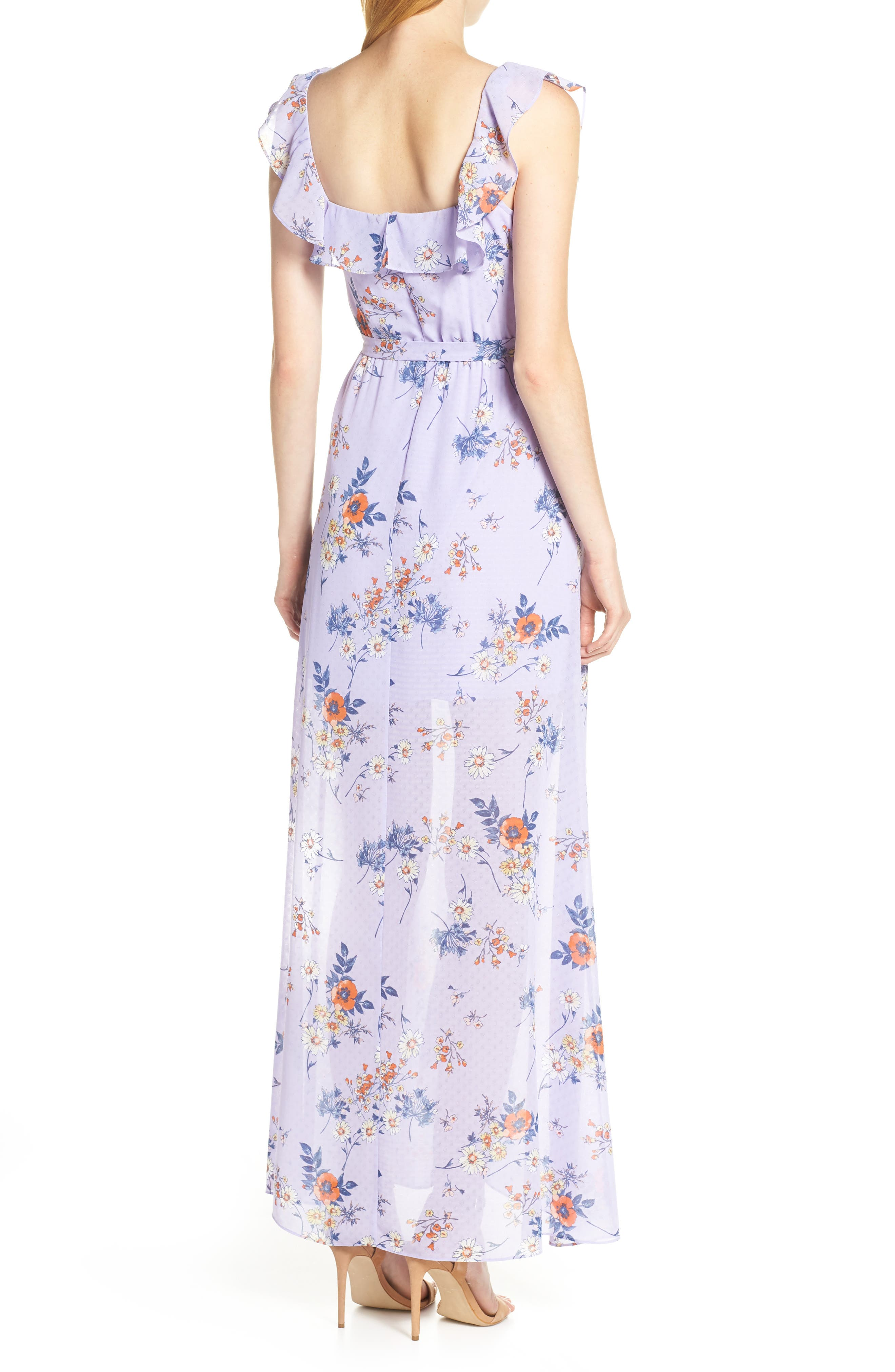 ALI & JAY, Sure Thing Maxi Dress, Alternate thumbnail 2, color, LAVENDER FIELD FLORAL