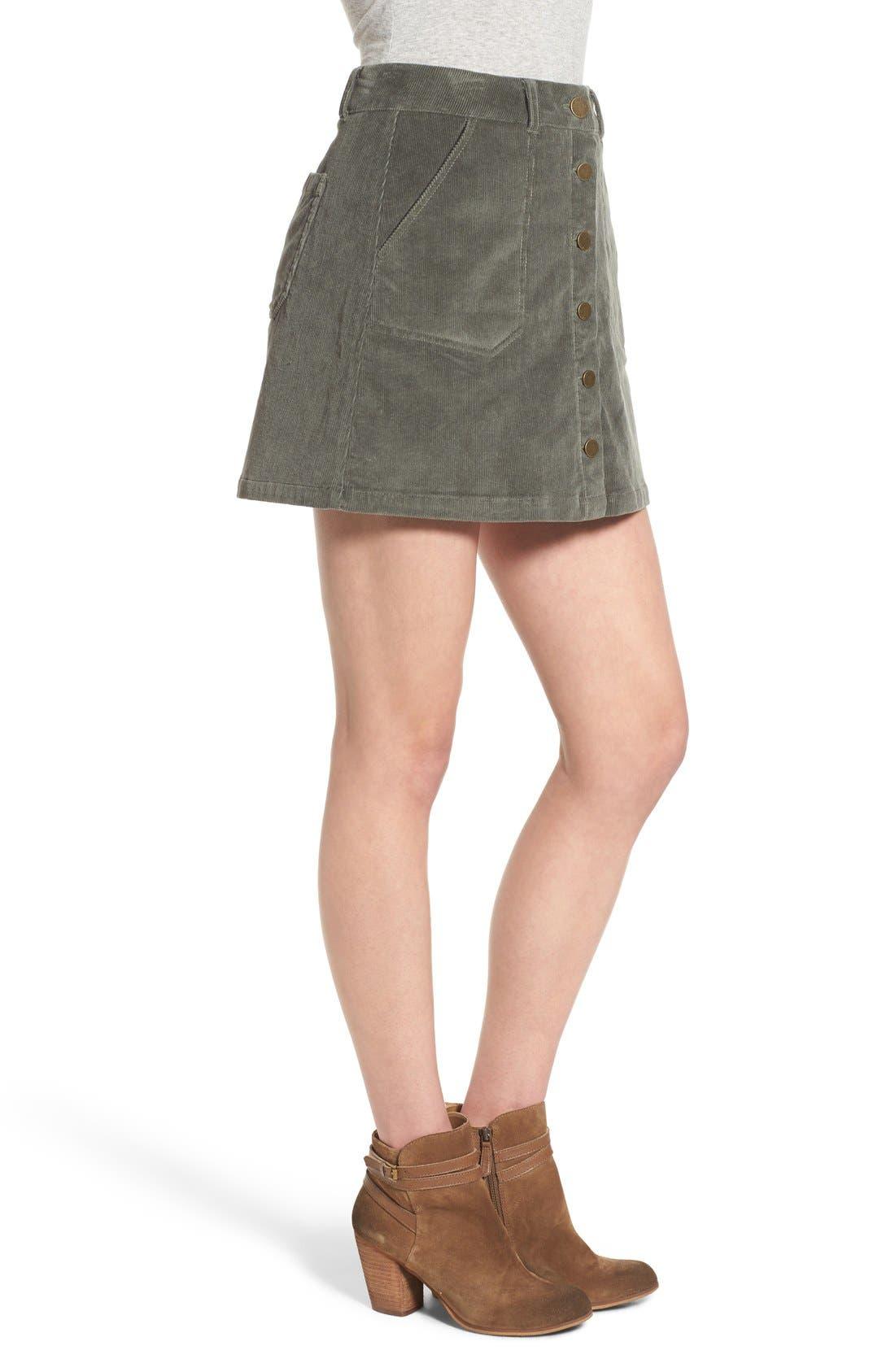 JOLT, Corduroy A-Line Skirt, Alternate thumbnail 2, color, 300