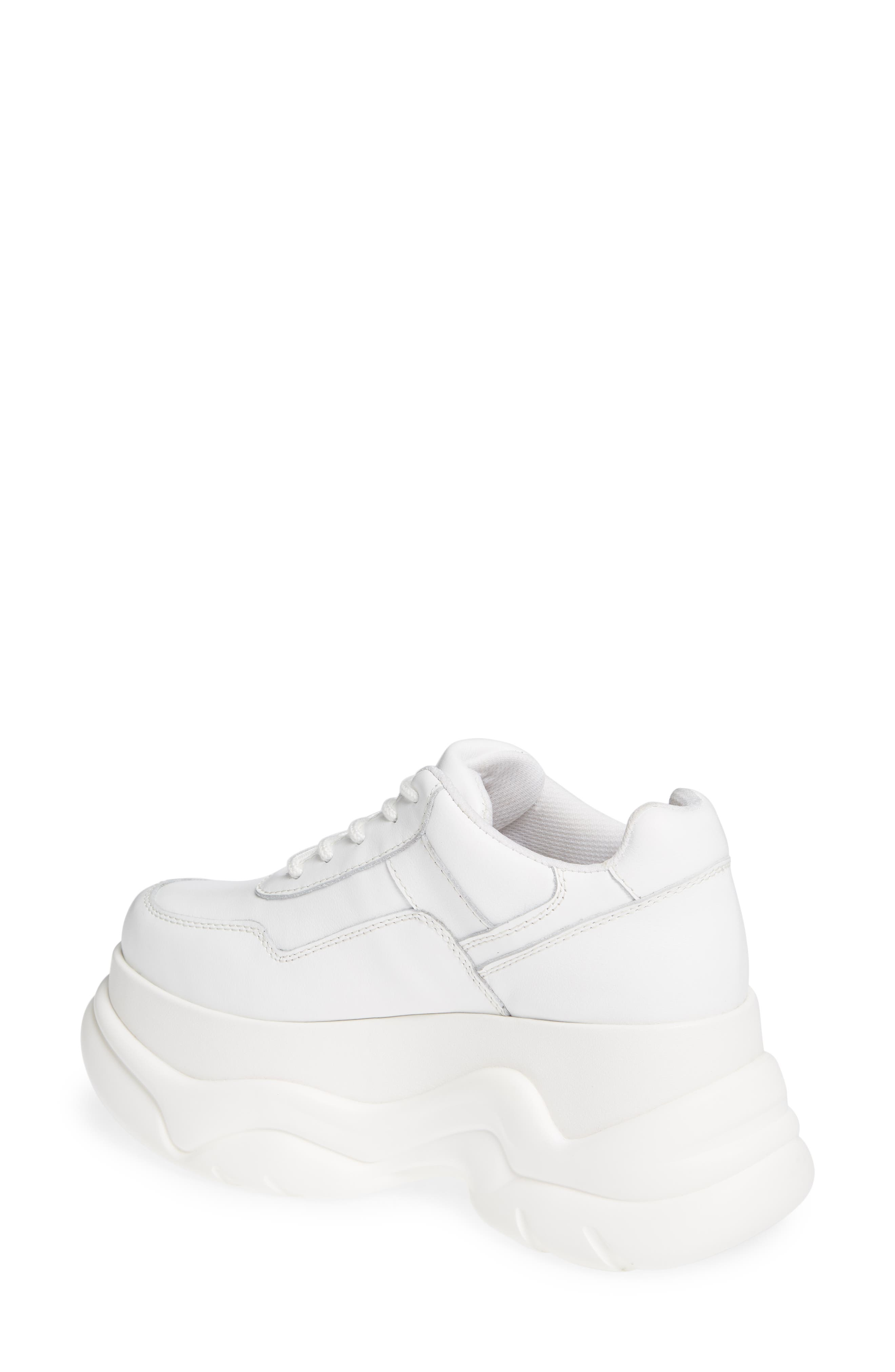 JEFFREY CAMPBELL, Most Def Wedge Sneaker, Alternate thumbnail 2, color, WHITE/ WHITE LEATHER
