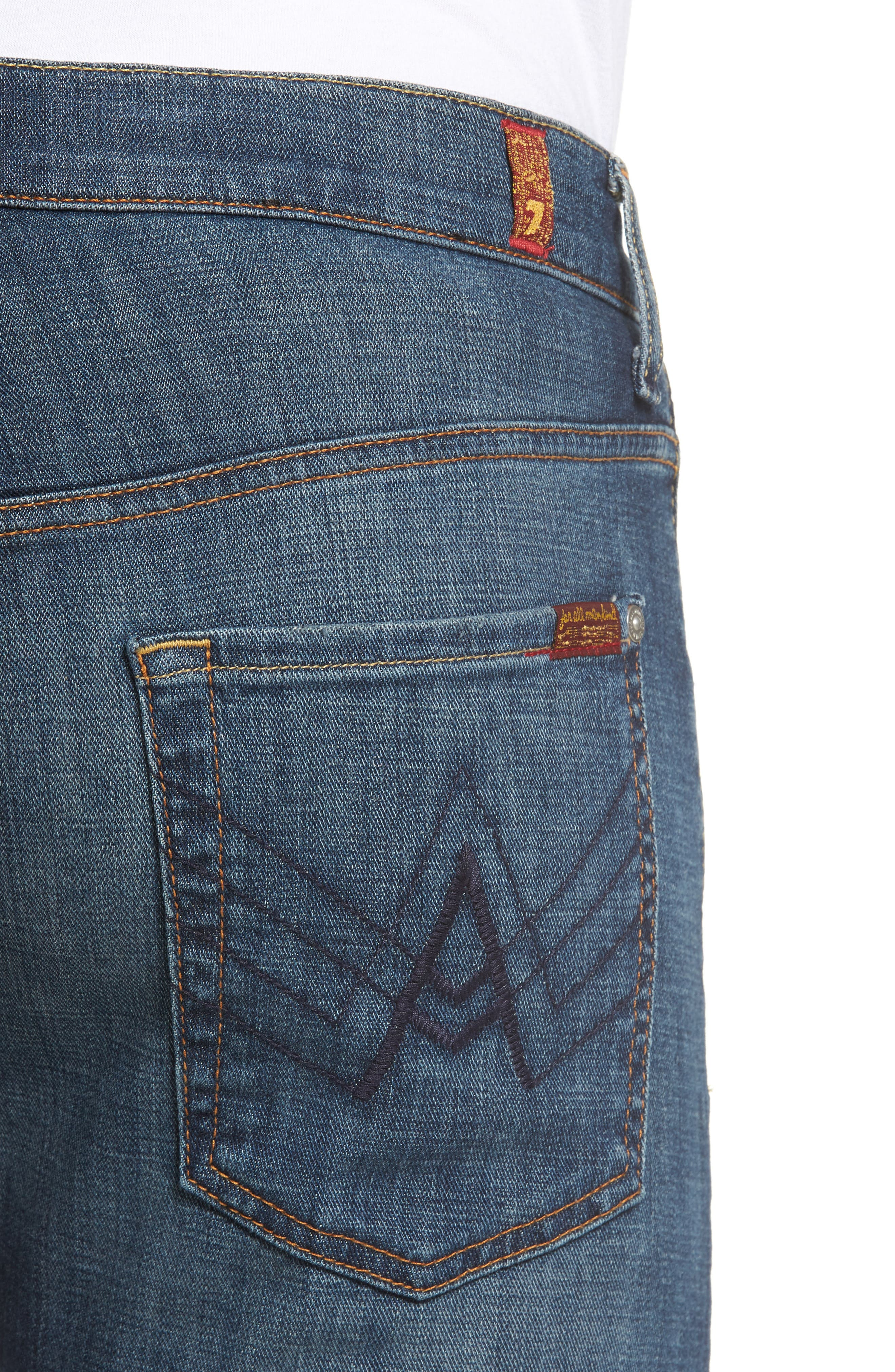 7 FOR ALL MANKIND<SUP>®</SUP>, Brett Bootcut Jeans, Alternate thumbnail 5, color, DARK NEW YORK