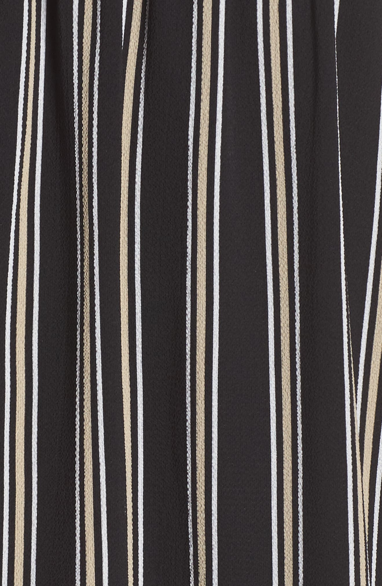 ALI & JAY, Tea for Two Crepe Dress, Alternate thumbnail 5, color, BLACK MULTI STRIPE