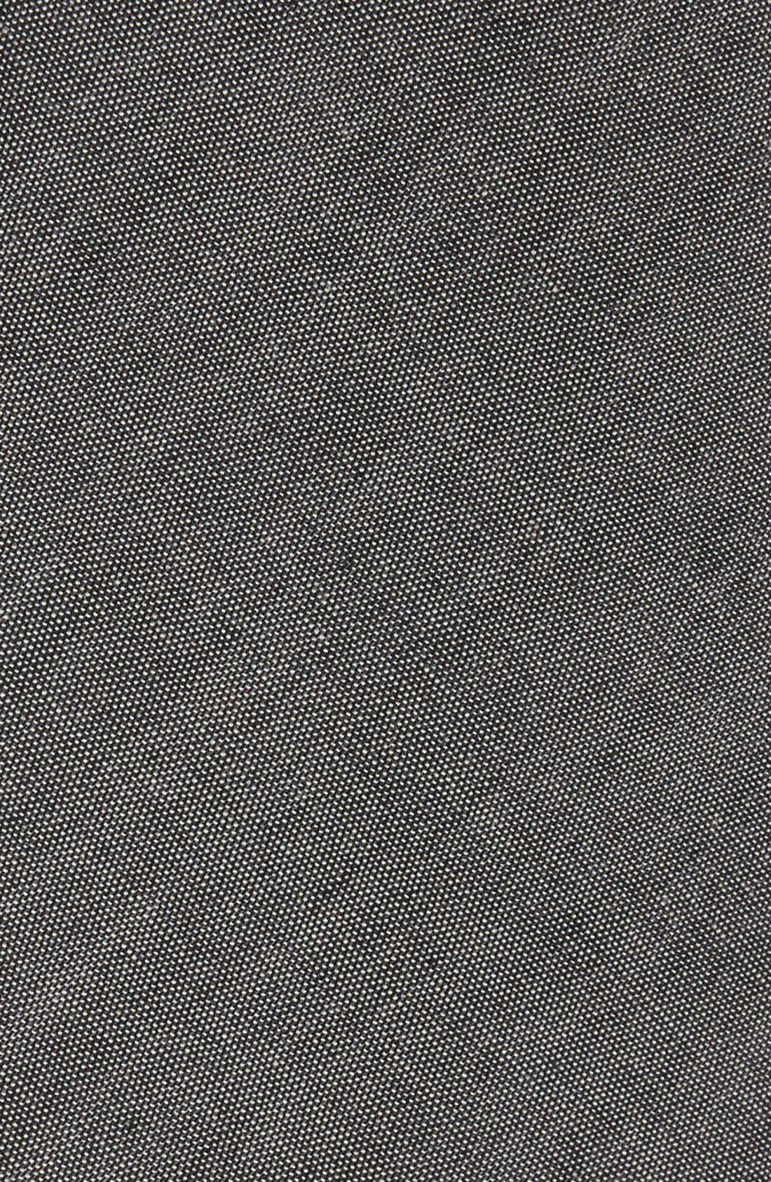 THE TIE BAR, Cotton Tie, Alternate thumbnail 2, color, WARM GREY