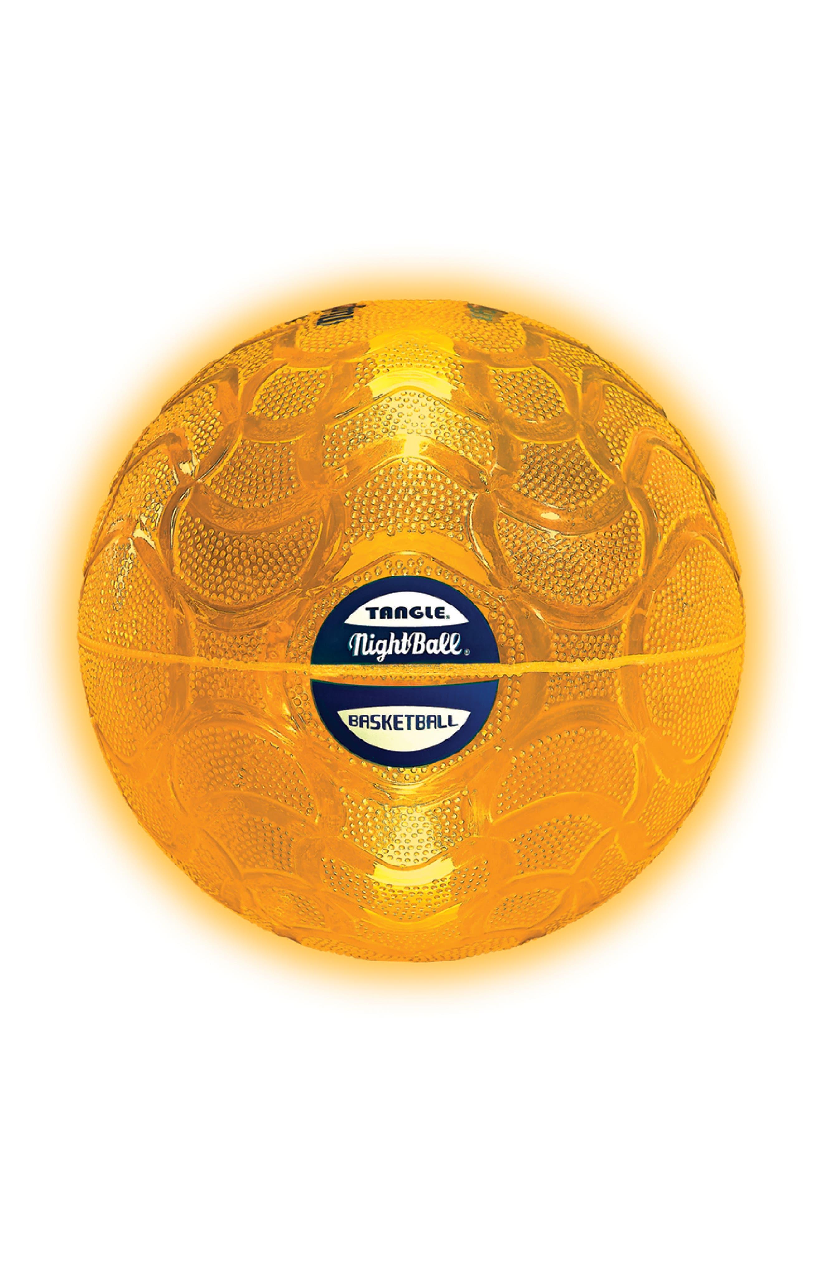 TANGLE NightBall Basketball, Main, color, ORANGE
