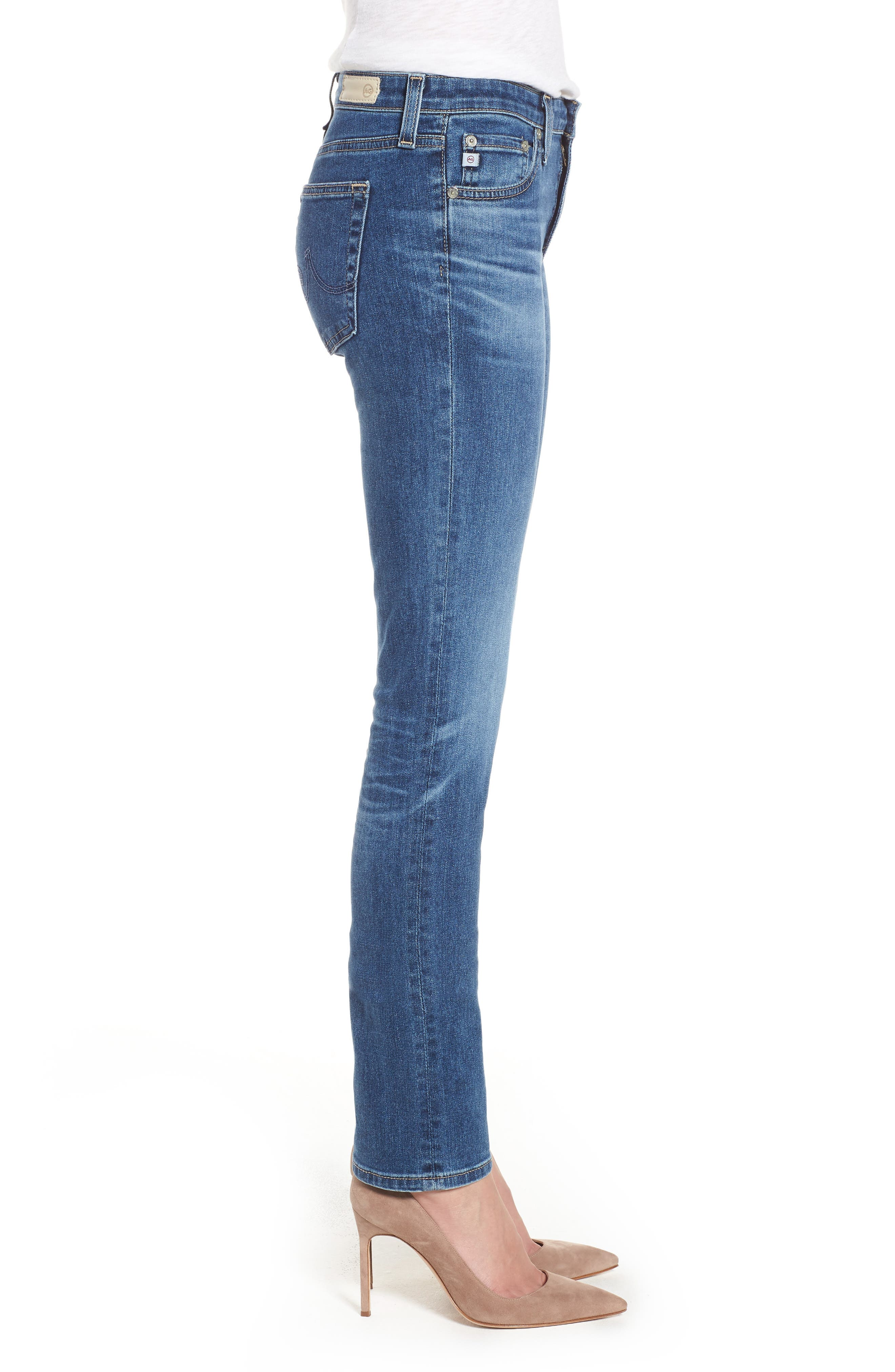 AG, Harper Slim Straight Leg Jeans, Alternate thumbnail 4, color, 10 YEARS CAMBRIA