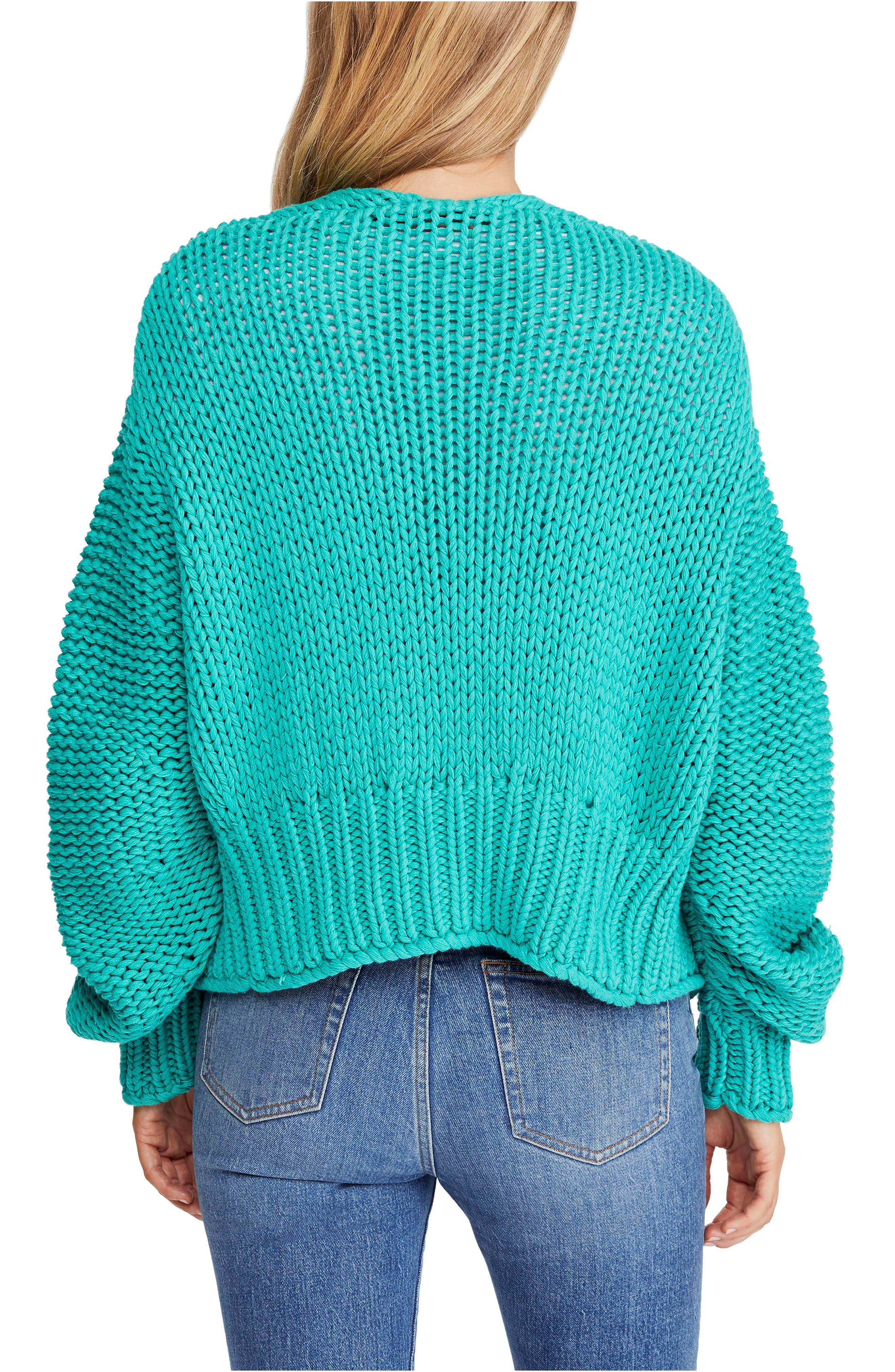 FREE PEOPLE, Glow For It Cardigan, Alternate thumbnail 2, color, 440