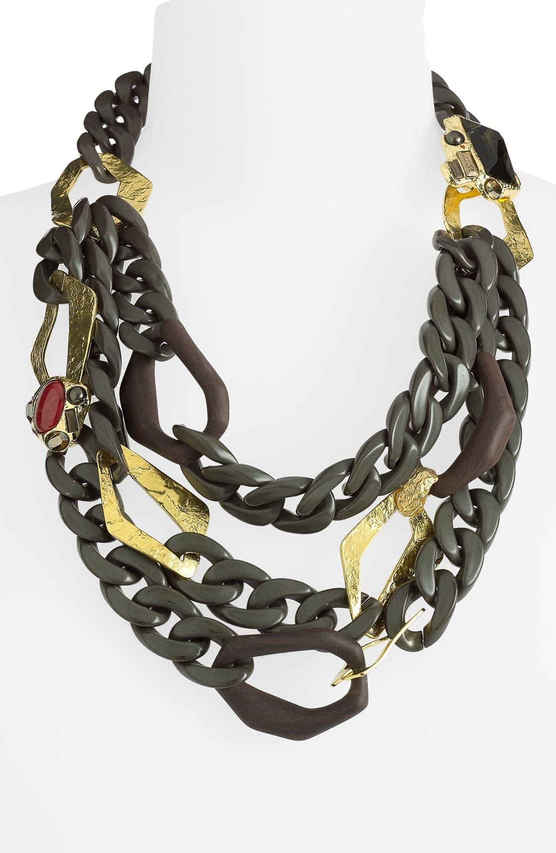 ALEXIS BITTAR, 'Otto' Triple Chain Necklace, Main thumbnail 1, color, 710