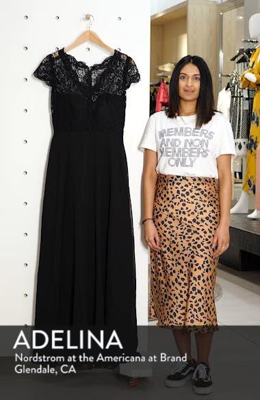 Cap Sleeve Lace & Chiffon Gown, sales video thumbnail
