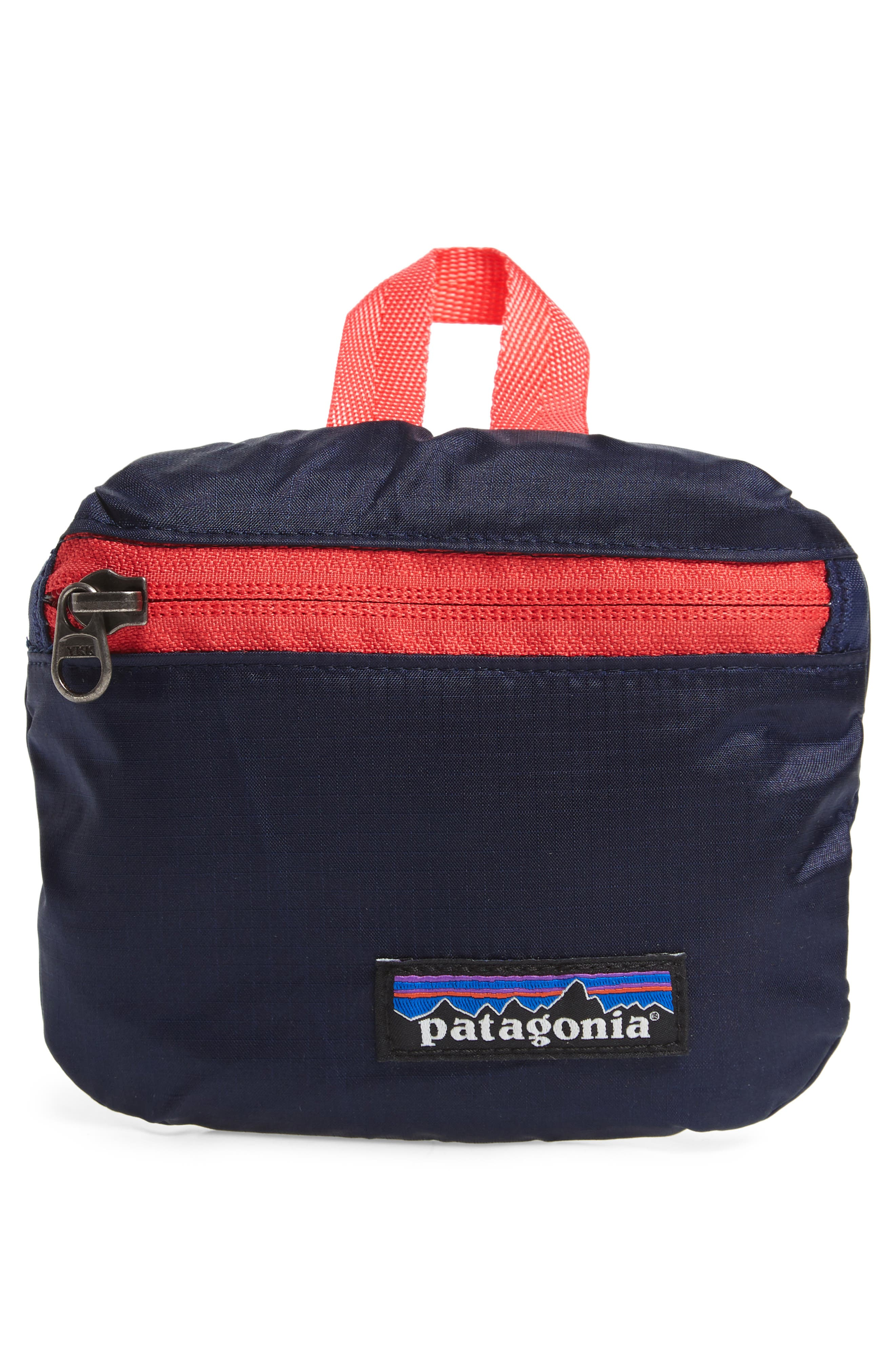PATAGONIA, Travel Belt Bag, Alternate thumbnail 8, color, PATCHWORK ARROW RED / NAVY