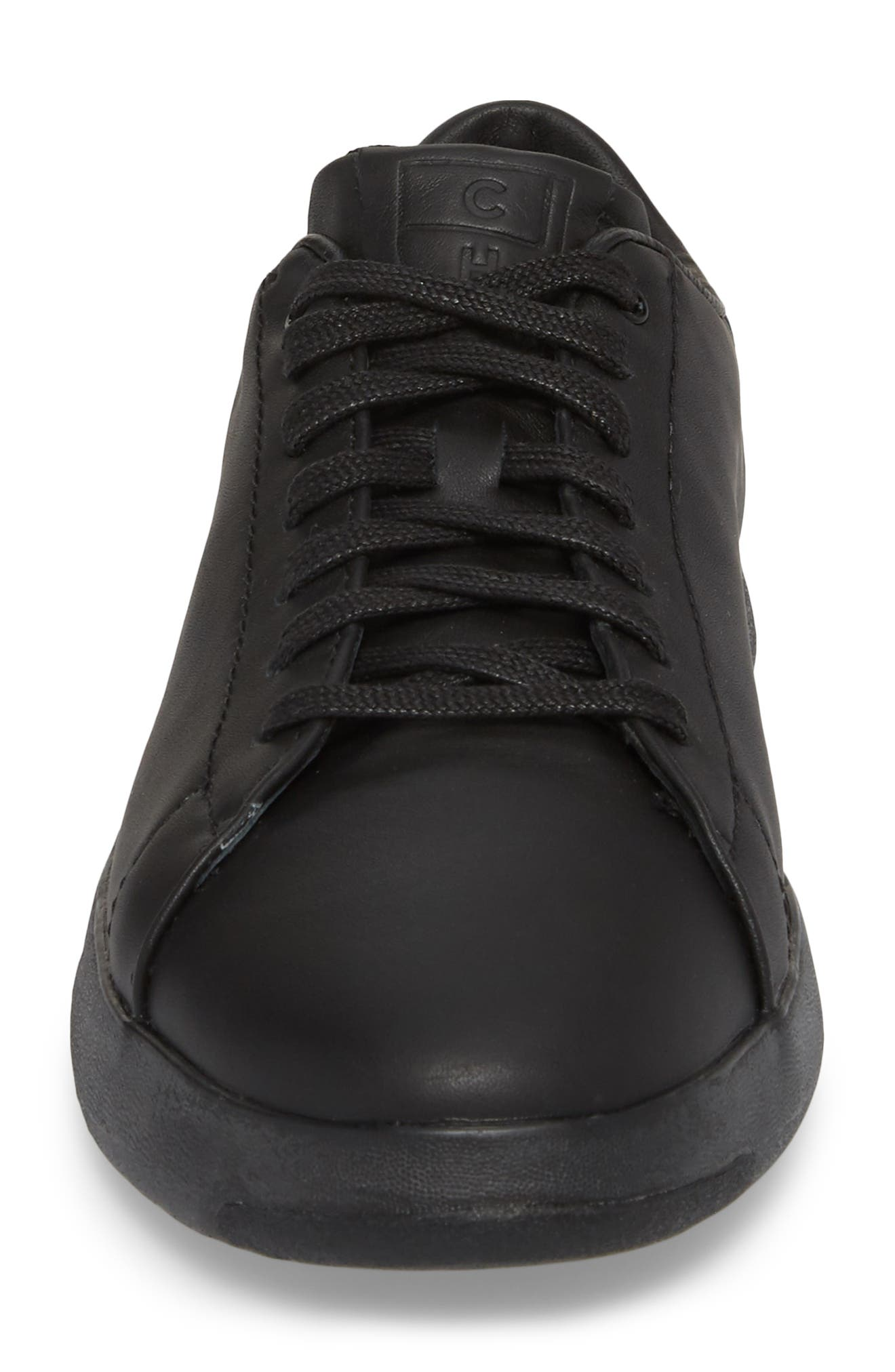 COLE HAAN, GrandPro Tennis Sneaker, Alternate thumbnail 4, color, BLACK/ BLACK LEATHER