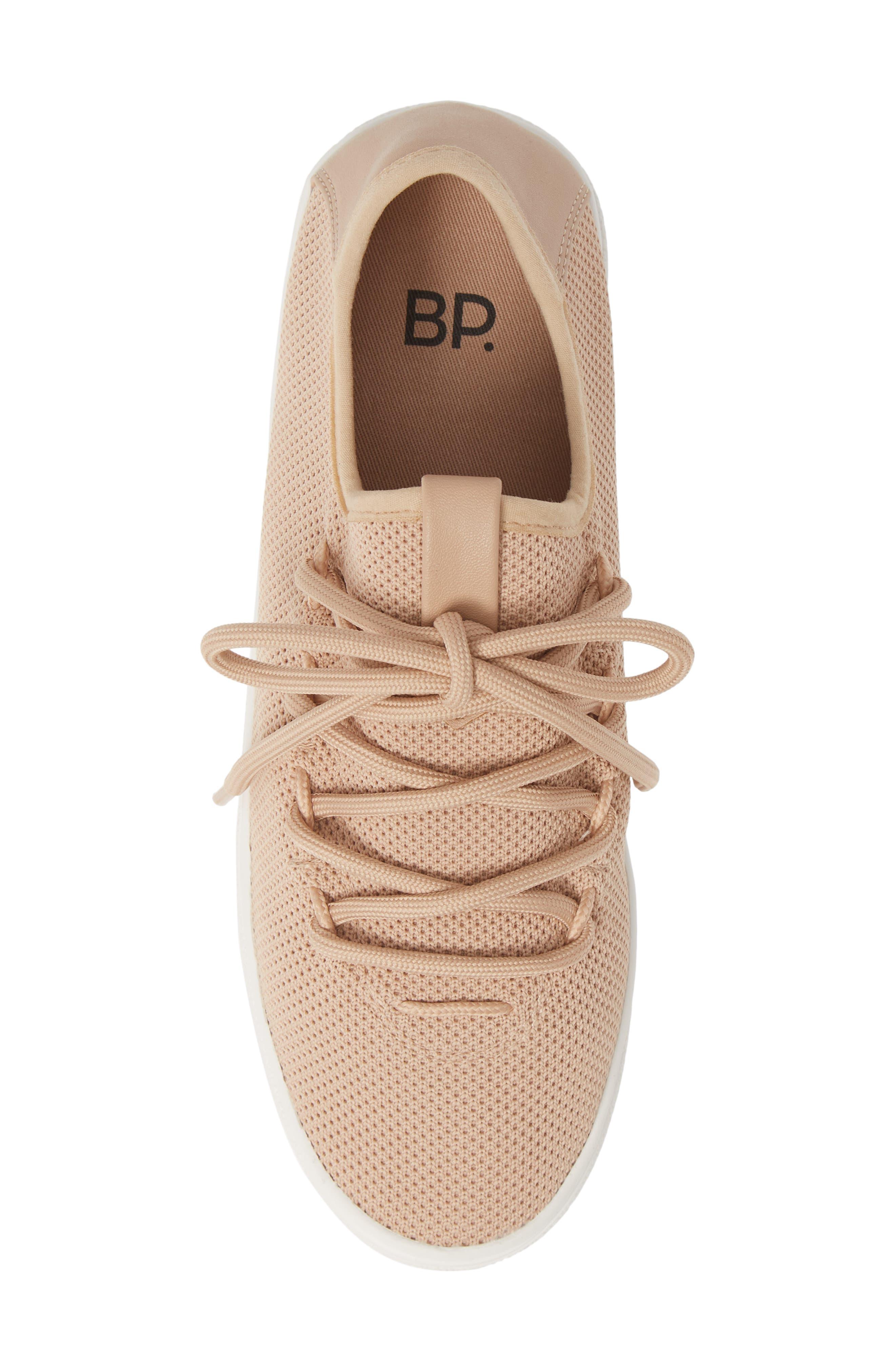 BP., BP Lace-Up Sneaker, Alternate thumbnail 5, color, BLUSH FABRIC