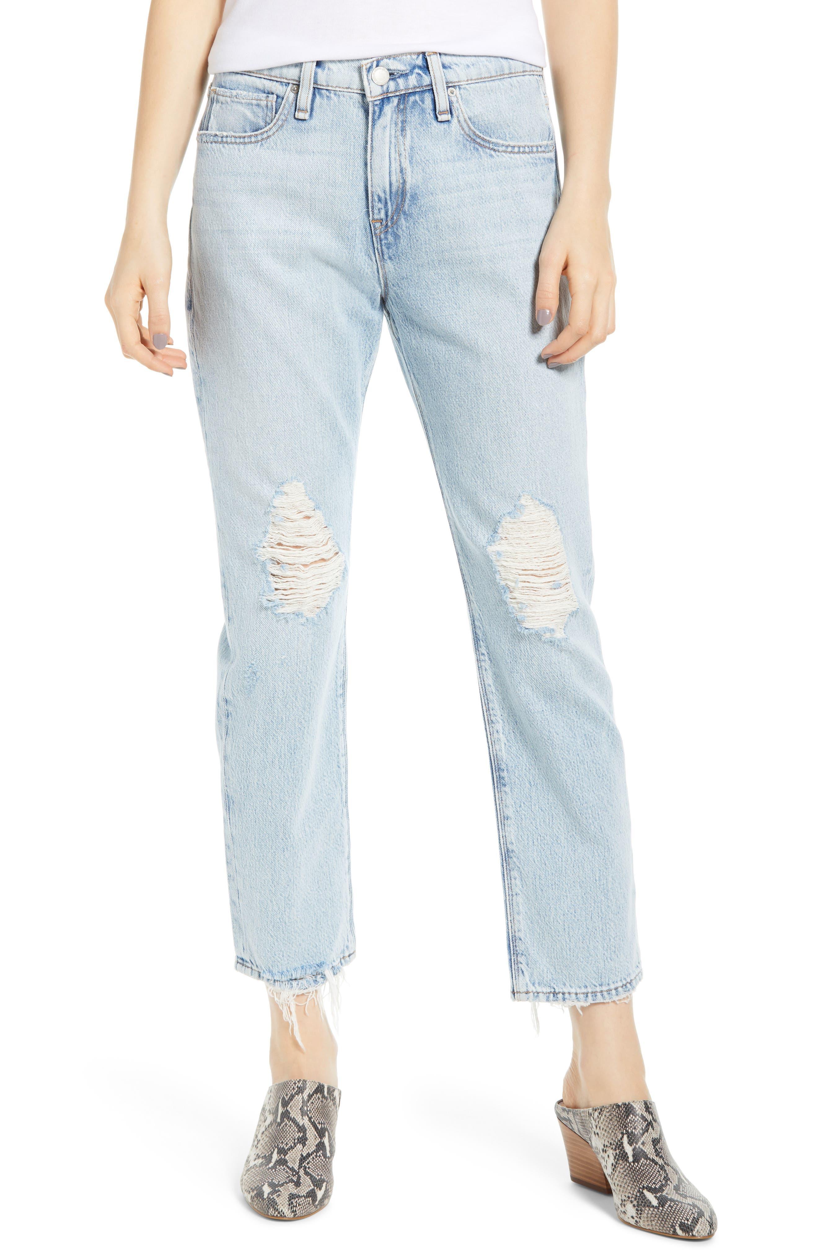 HUDSON JEANS Jessi Ripped Crop Boyfriend Jeans, Main, color, SAVE TONIGHT