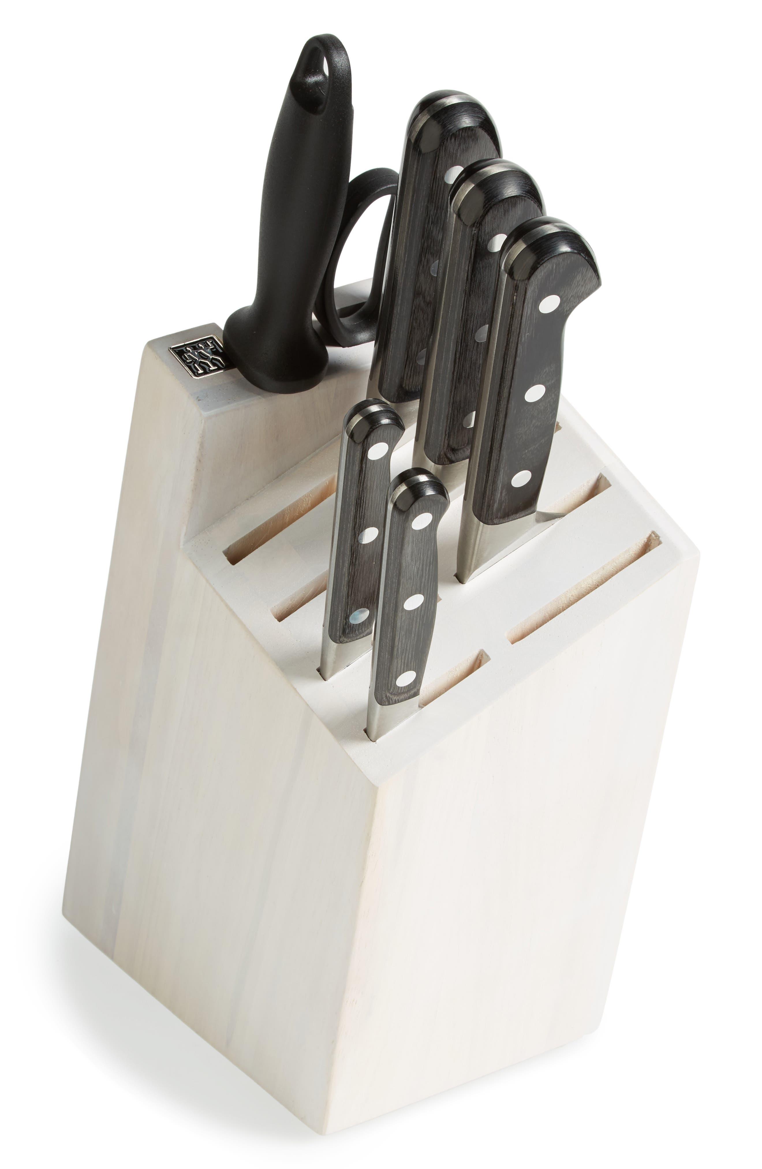 ZWILLING J.A. HENCKELS, x goop Pro Pakka 8-Piece Knife Block Set, Main thumbnail 1, color, 000