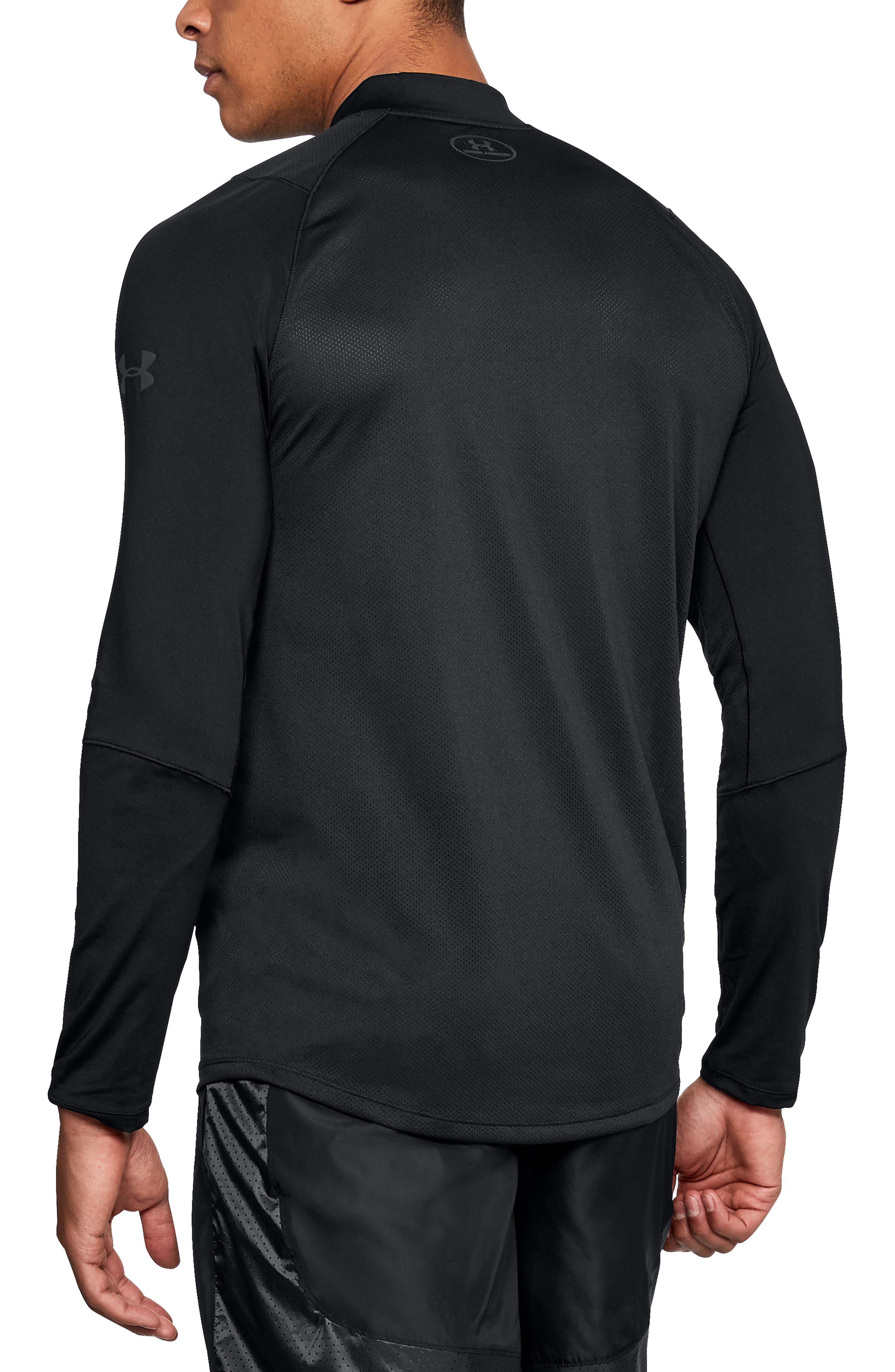 UNDER ARMOUR, MK1 Quarter Zip Pullover, Alternate thumbnail 2, color, 001