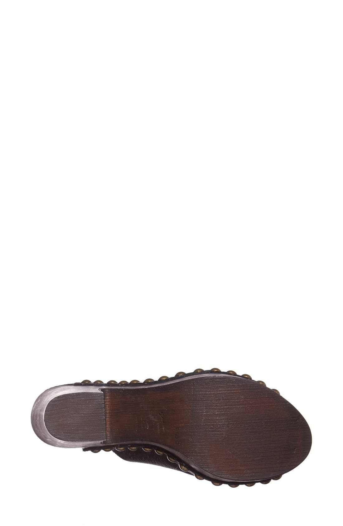 CHARLES DAVID, 'Sacche' Leather Clog, Alternate thumbnail 2, color, 001