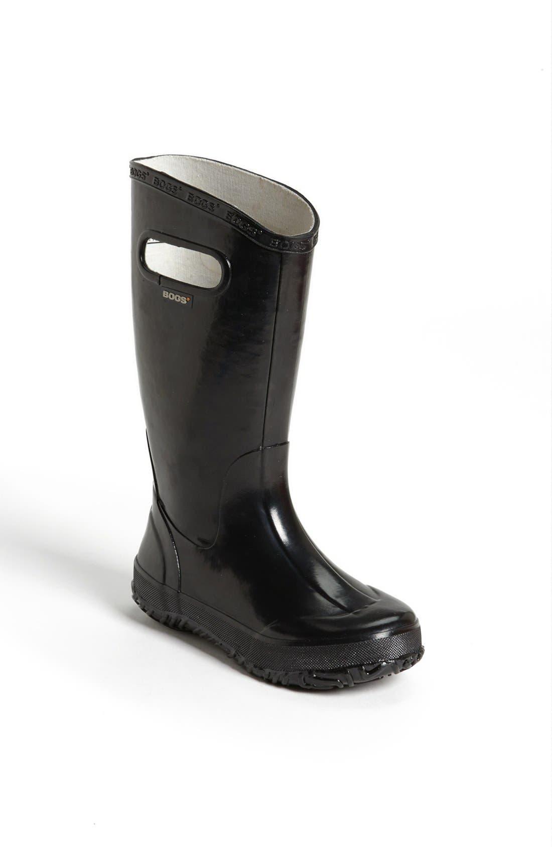 BOGS Rubber Rain Boot, Main, color, BLACK