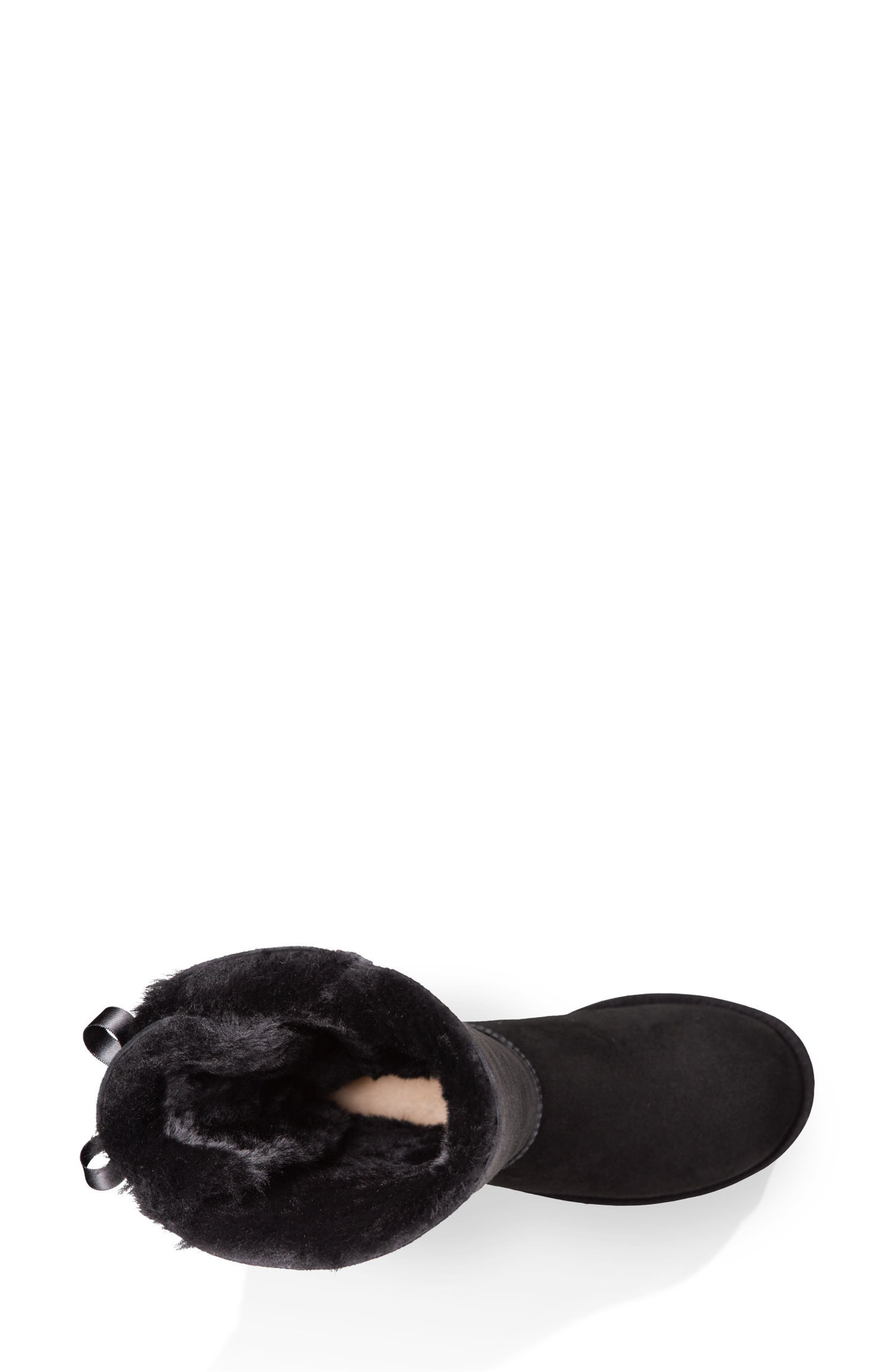 UGG<SUP>®</SUP>, Bailey Bow Tall II Boot, Alternate thumbnail 4, color, BLACK SUEDE