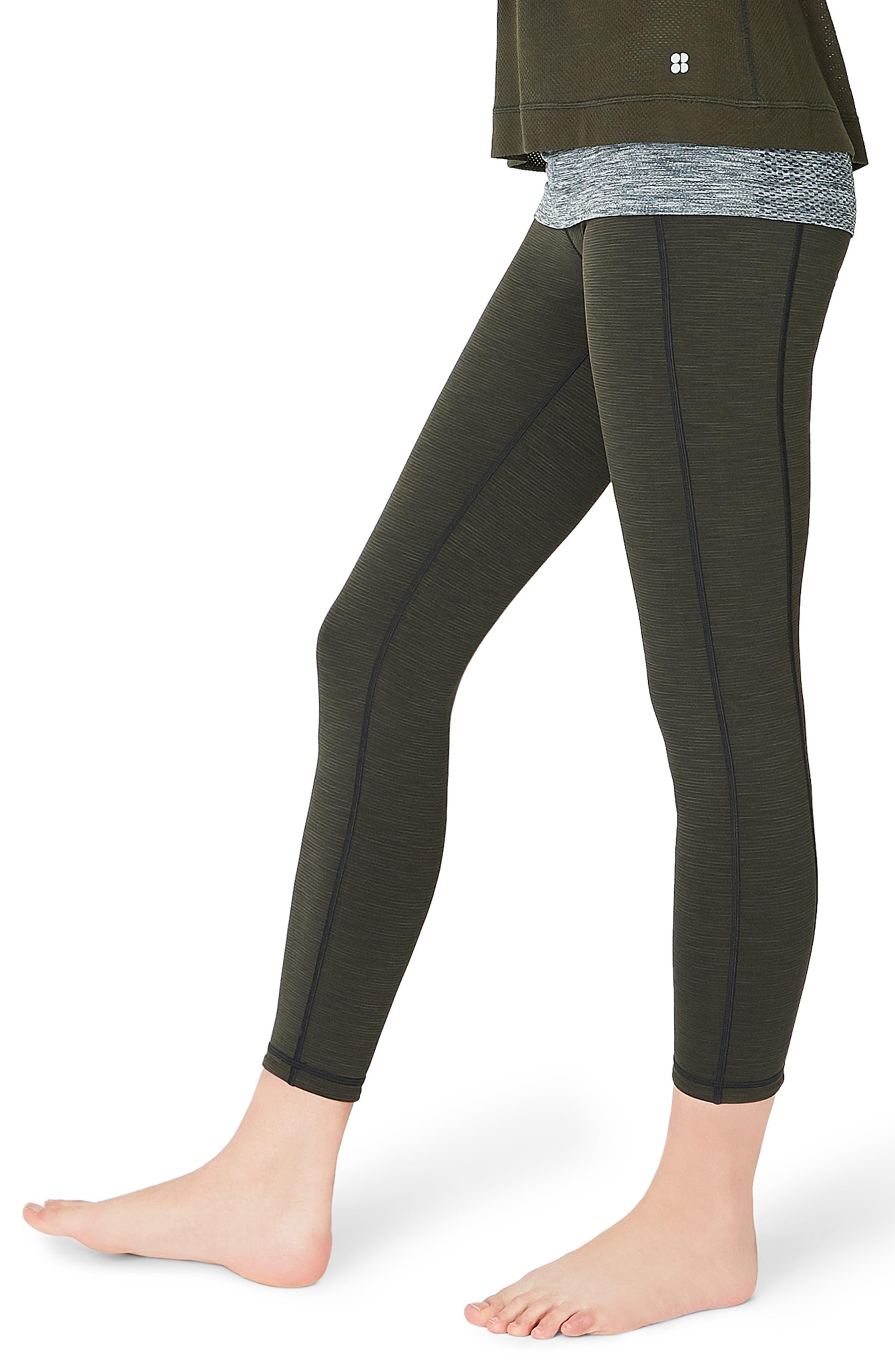 SWEATY BETTY, Reversible Yoga Leggings, Alternate thumbnail 4, color, 300