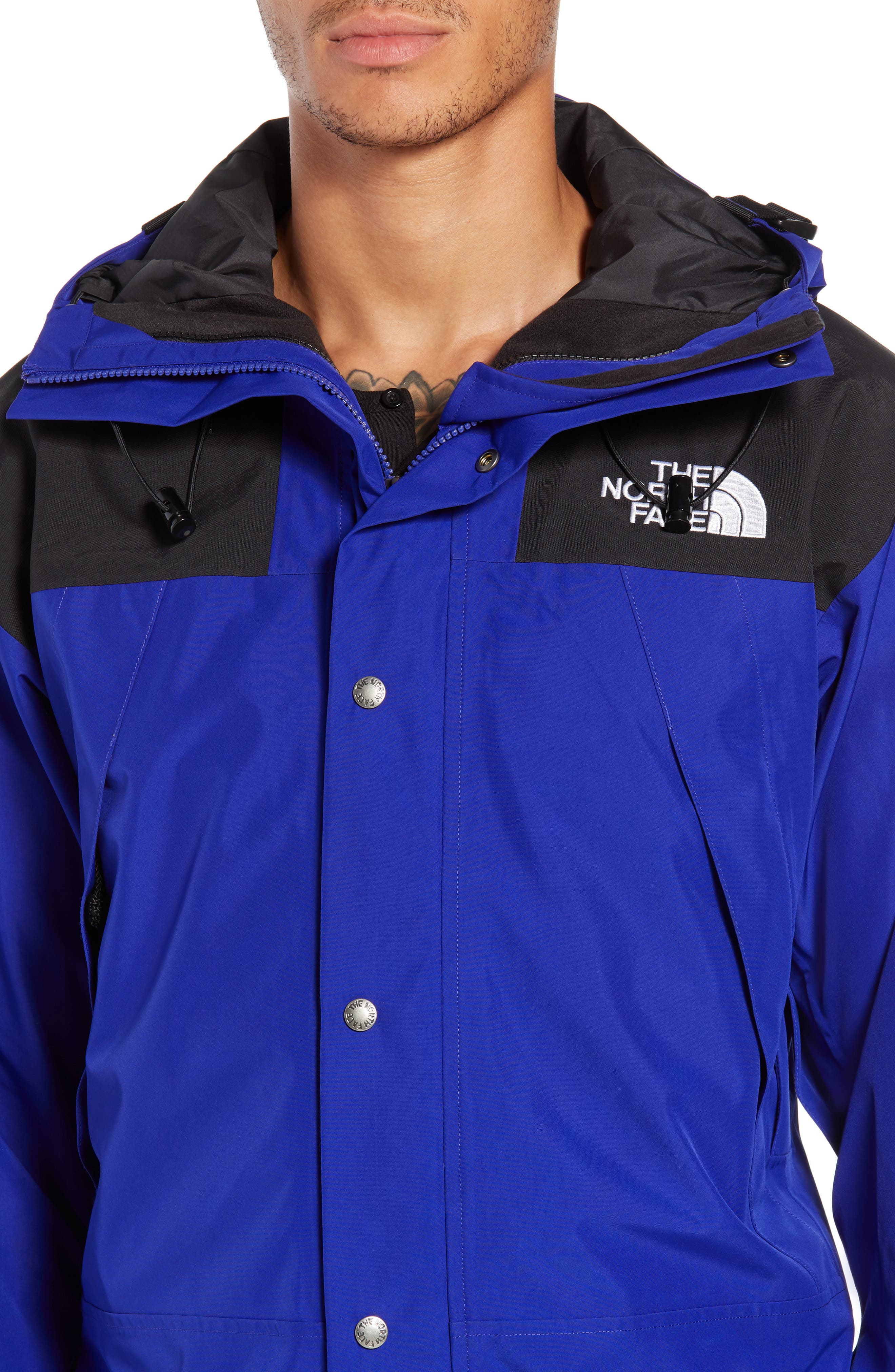 THE NORTH FACE, 1990 Mountain Hooded Jacket, Alternate thumbnail 5, color, AZTEC BLUE