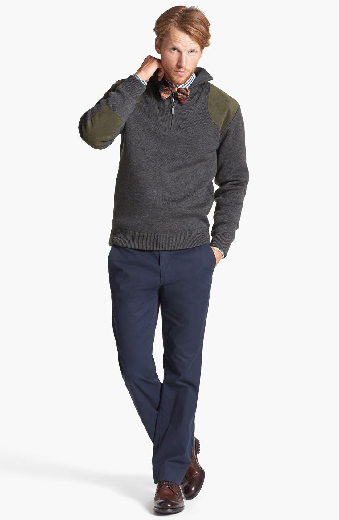 BONOBOS, Straight Fit Washed Chinos, Alternate thumbnail 8, color, JET BLUE