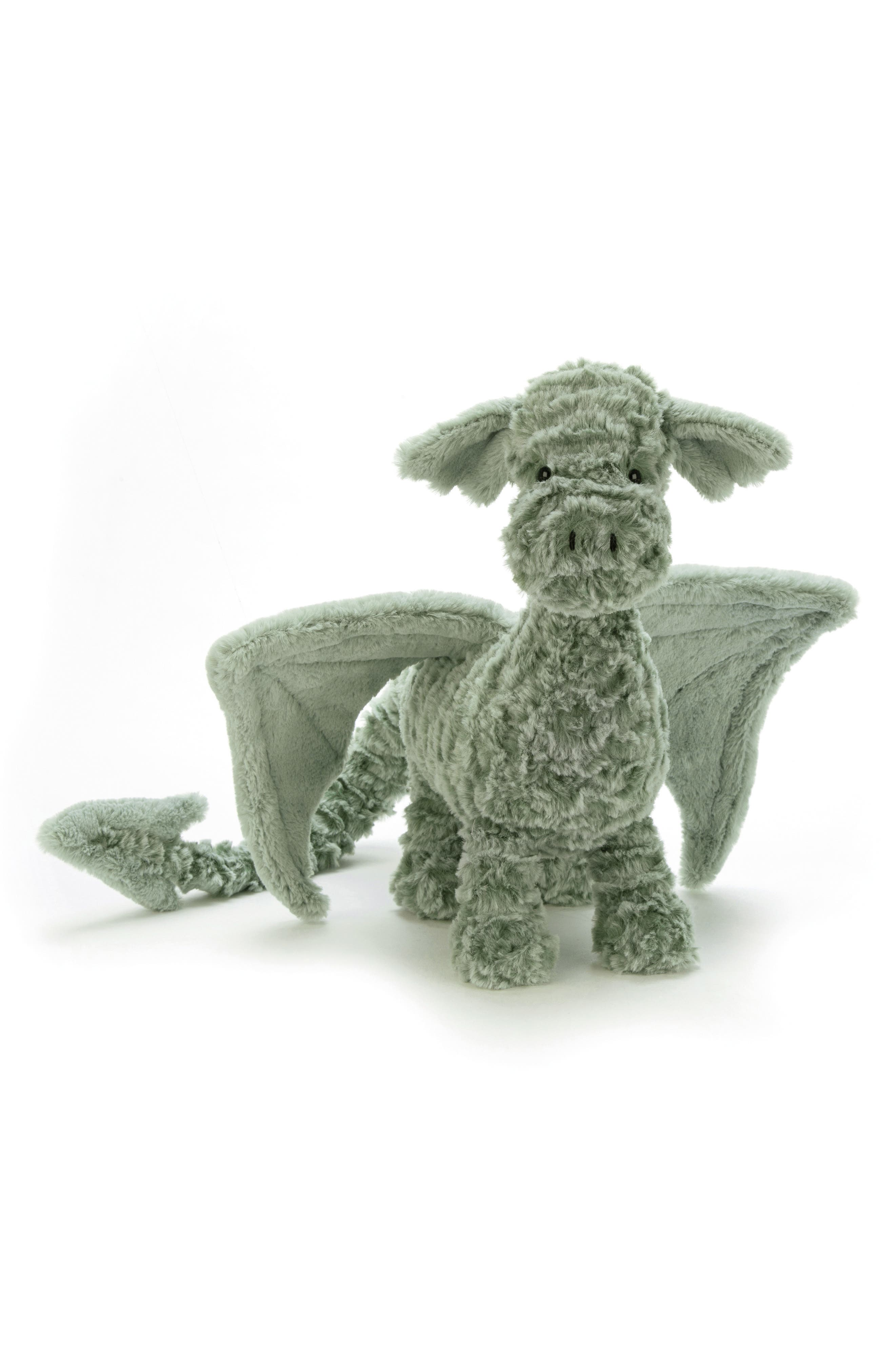 JELLYCAT Drake Dragon Stuffed Animal, Main, color, GREEN