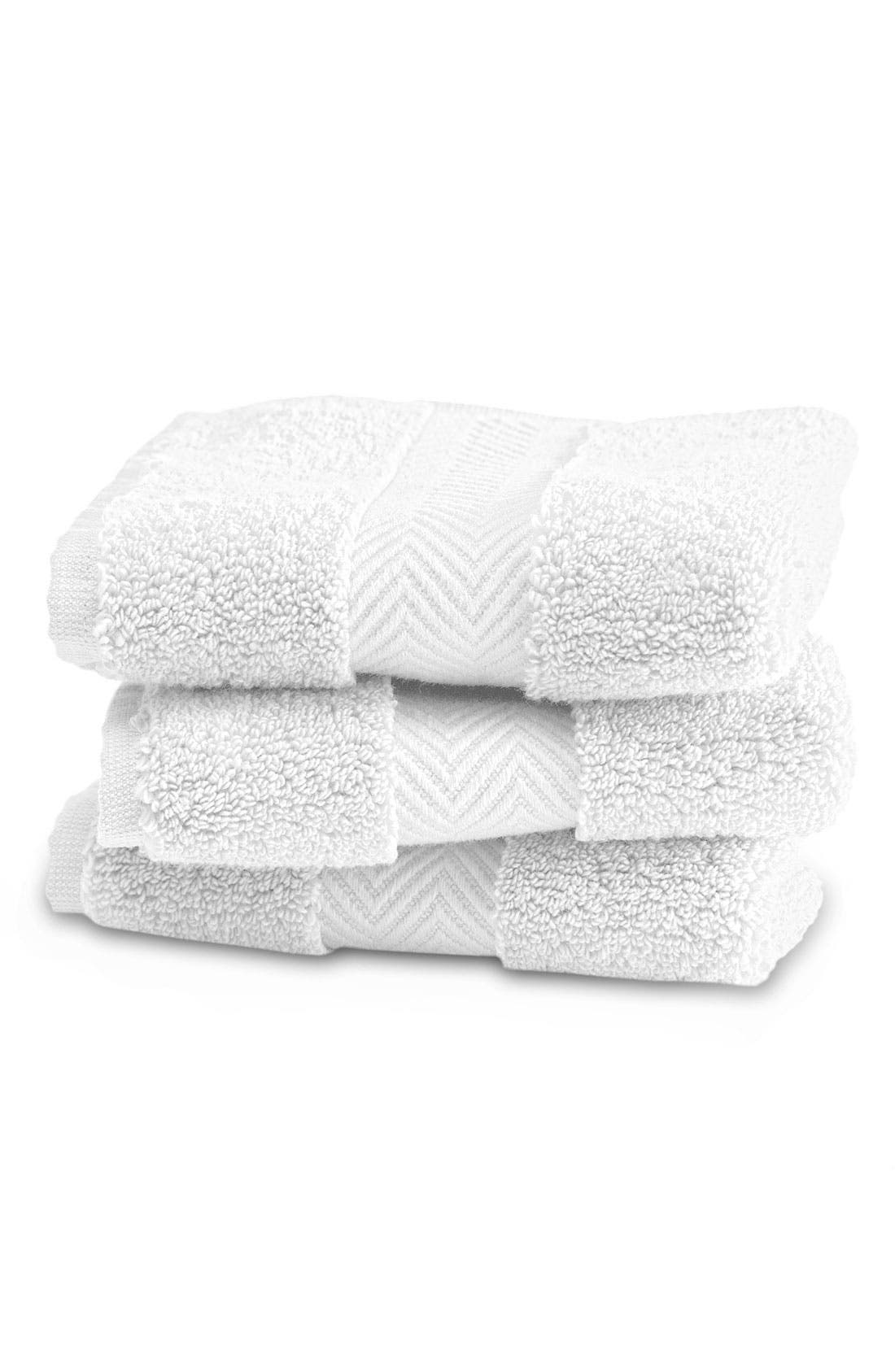 NORDSTROM AT HOME, Hydrocotton Hand Towel, Alternate thumbnail 3, color, WHITE