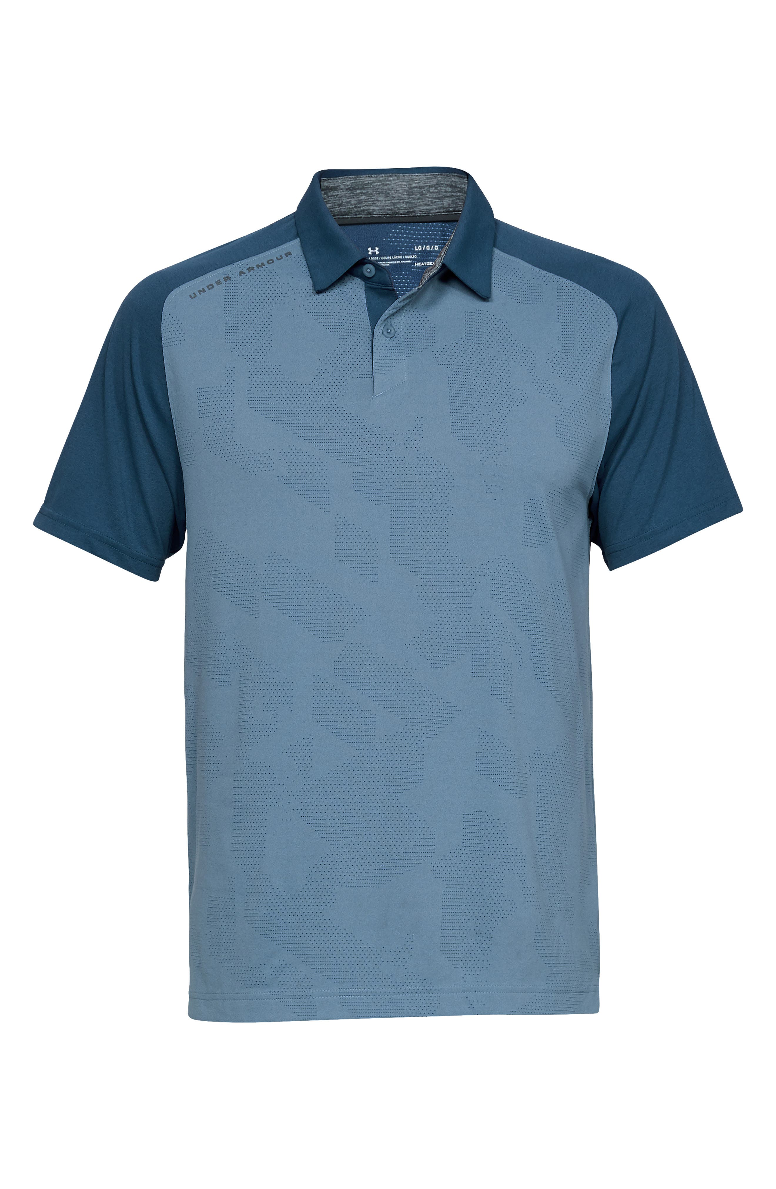 UNDER ARMOUR, Tour Tips Champion Loose Polo, Alternate thumbnail 5, color, THUNDER / / PITCH GRAY