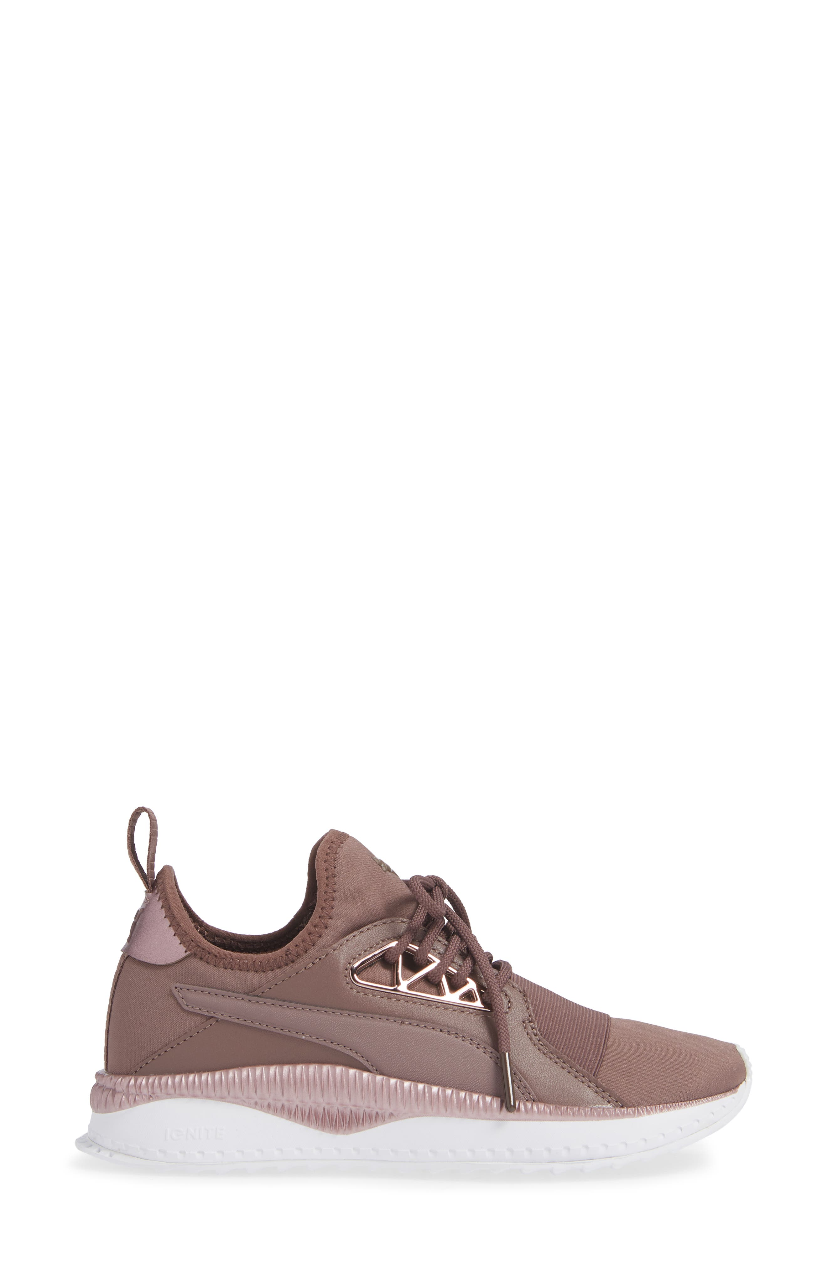 PUMA, TSUGI Apex Jewel Sneaker, Alternate thumbnail 3, color, PEPPERCORN/ PEPPERCORN