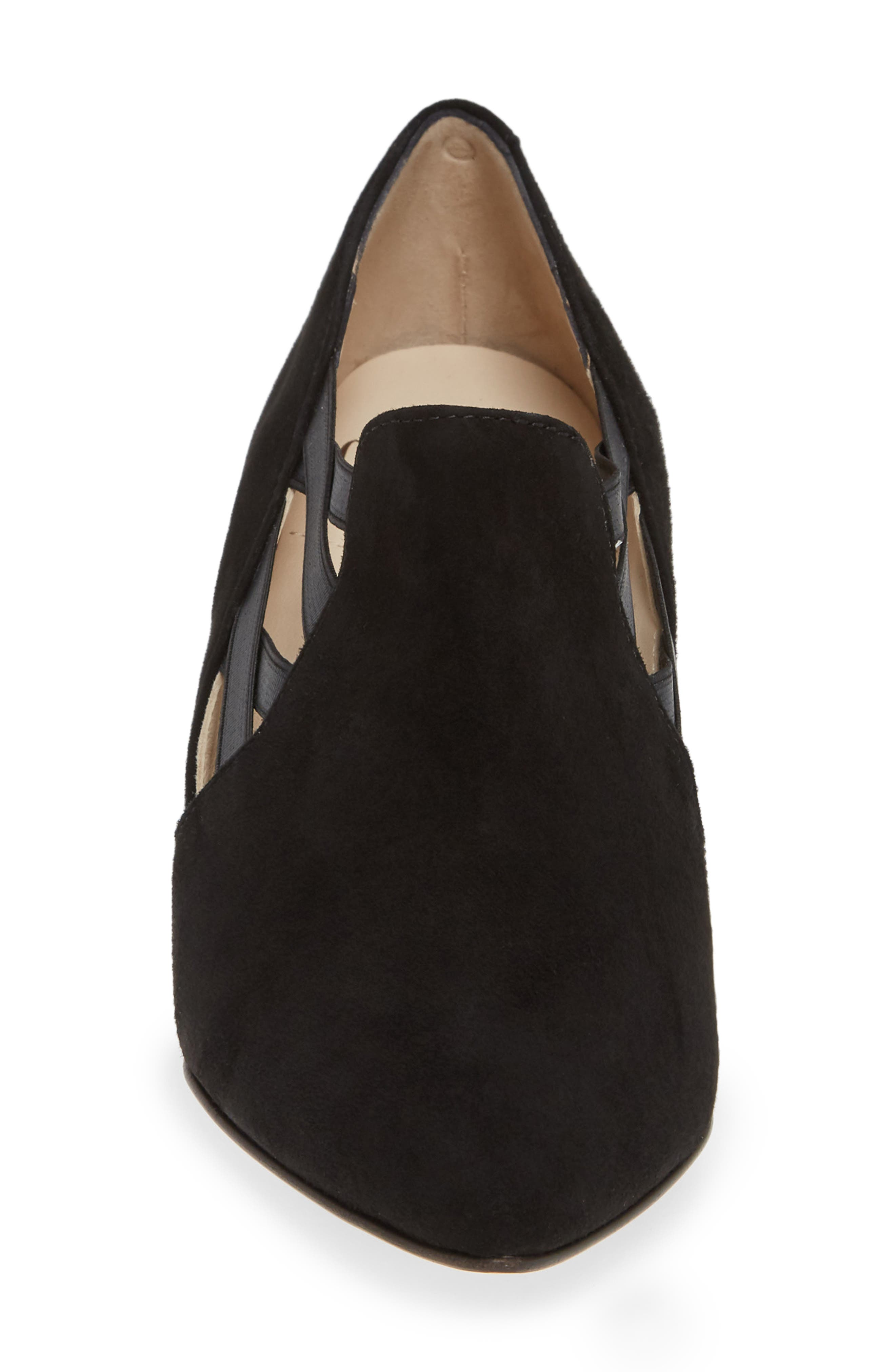 AMALFI BY RANGONI, Paolo Pump, Alternate thumbnail 4, color, BLACK SUEDE