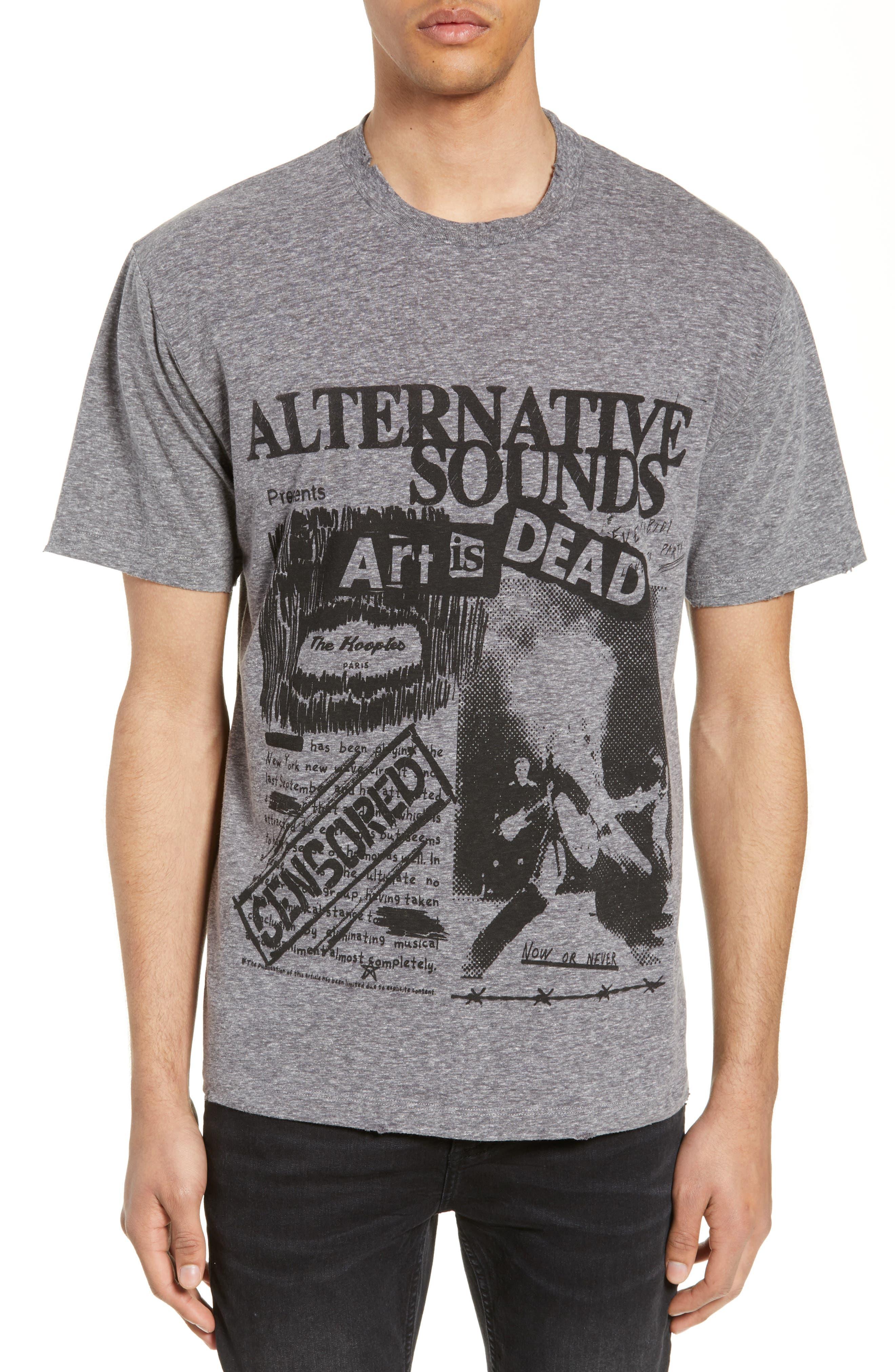 THE KOOPLES, Alternative Sounds Graphic T-Shirt, Main thumbnail 1, color, GREY