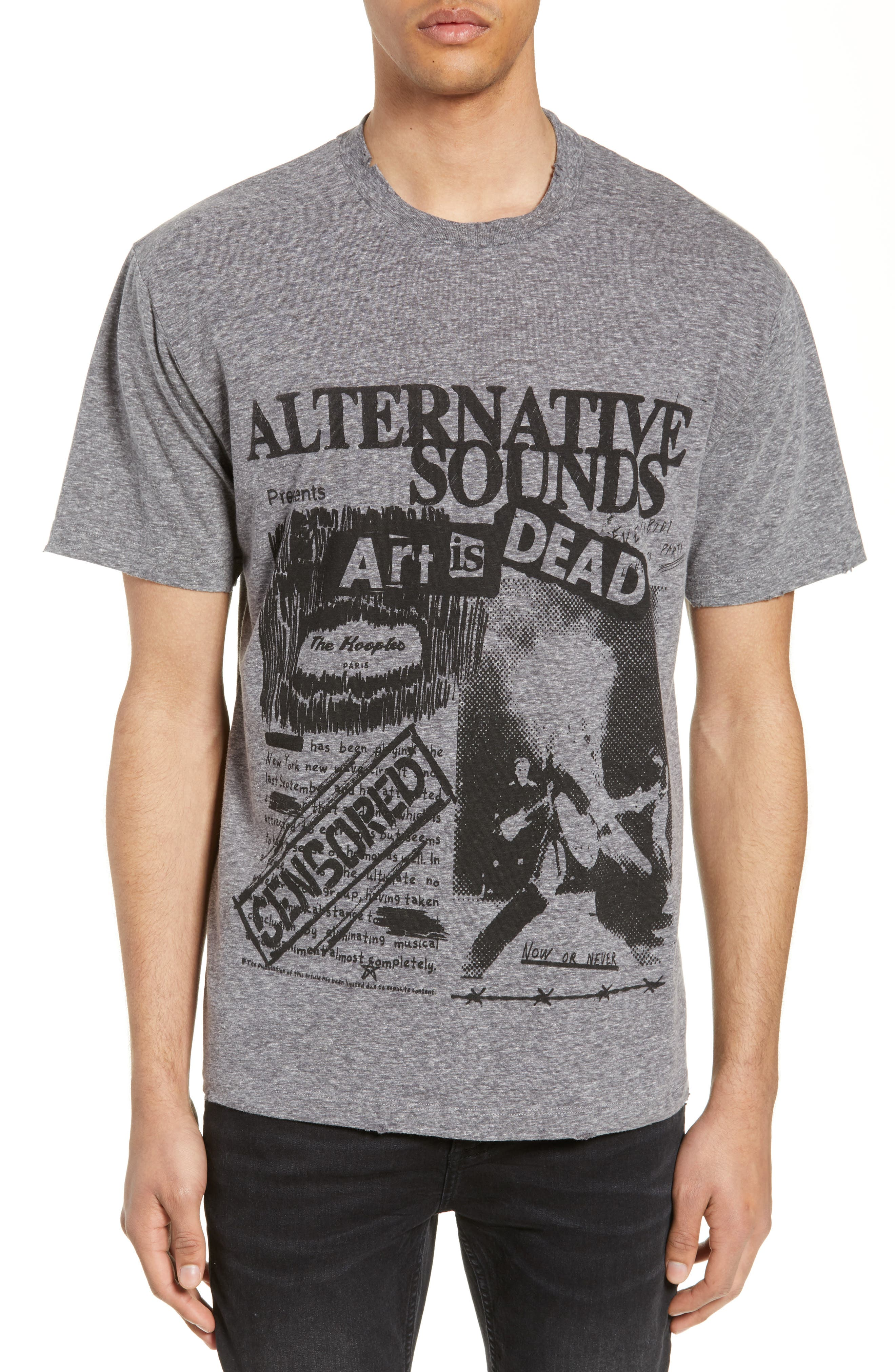 THE KOOPLES Alternative Sounds Graphic T-Shirt, Main, color, GREY