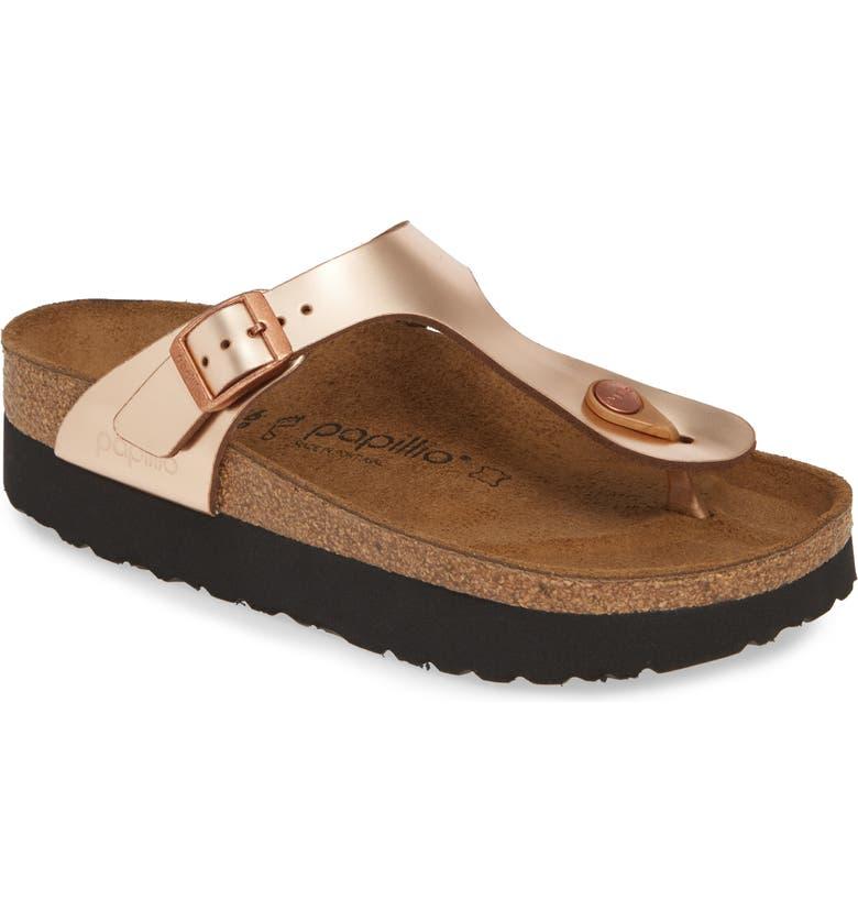 Birkenstock Sandals 'GIZEH' BIRKO-FLOR PLATFORM FLIP FLOP SANDAL