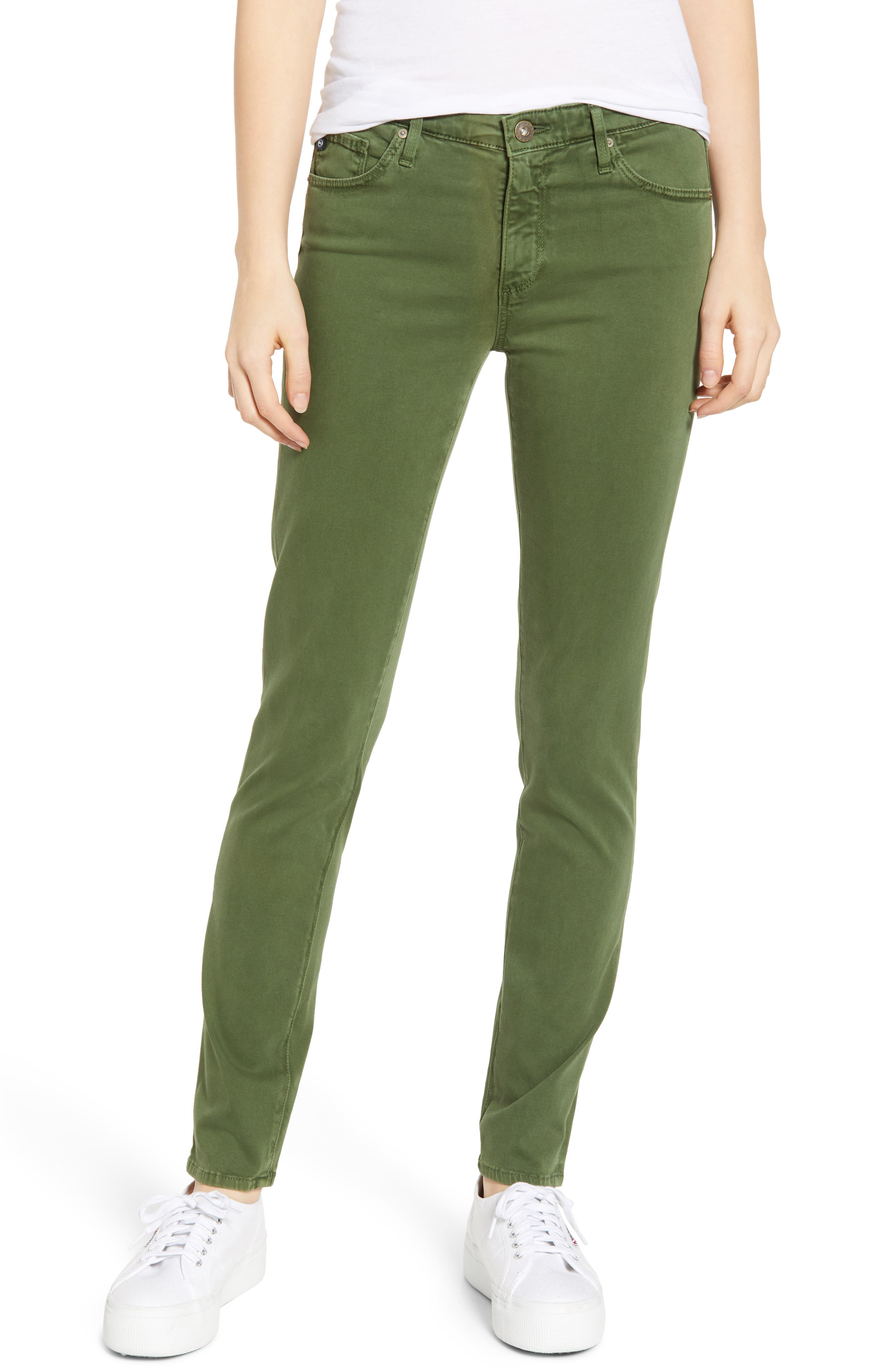 AG, 'The Prima' Cigarette Leg Skinny Jeans, Main thumbnail 1, color, SULFUR NEW SPRUCE
