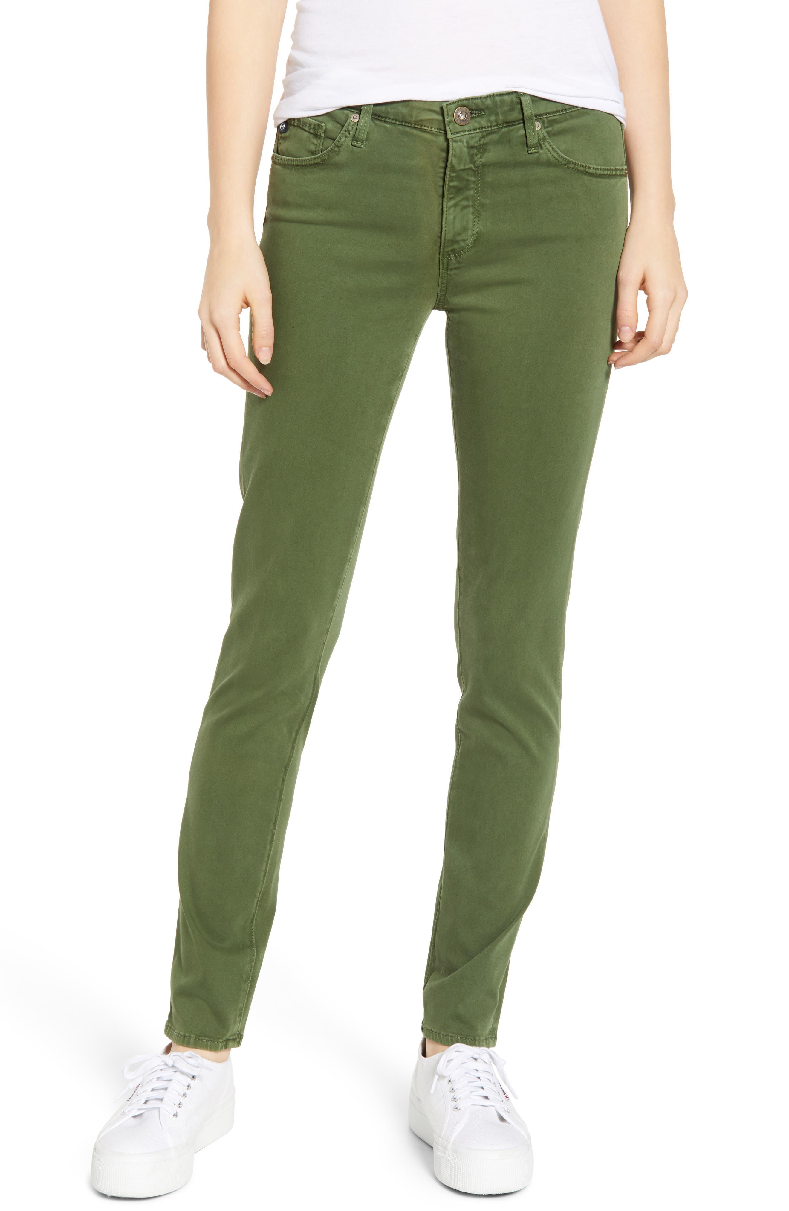 AG 'The Prima' Cigarette Leg Skinny Jeans, Main, color, SULFUR NEW SPRUCE