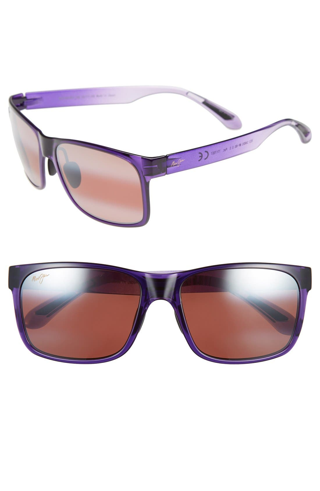 MAUI JIM Red Sands 59mm PolarizedPlus2<sup>®</sup> Sunglasses, Main, color, PURPLE FADE/ MAUI ROSE