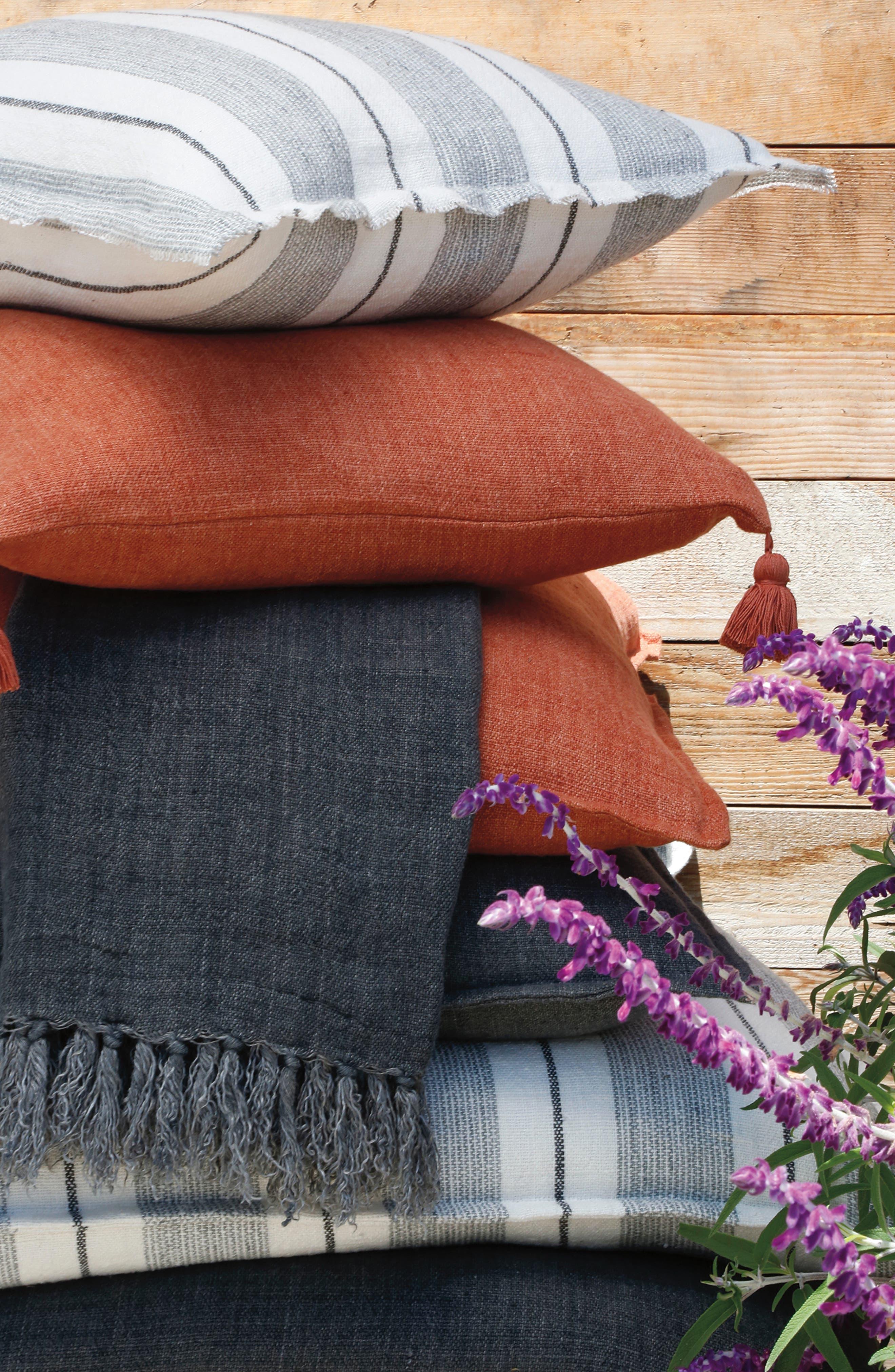 POM POM AT HOME, Montauk Throw Blanket, Alternate thumbnail 2, color, CHARCOAL