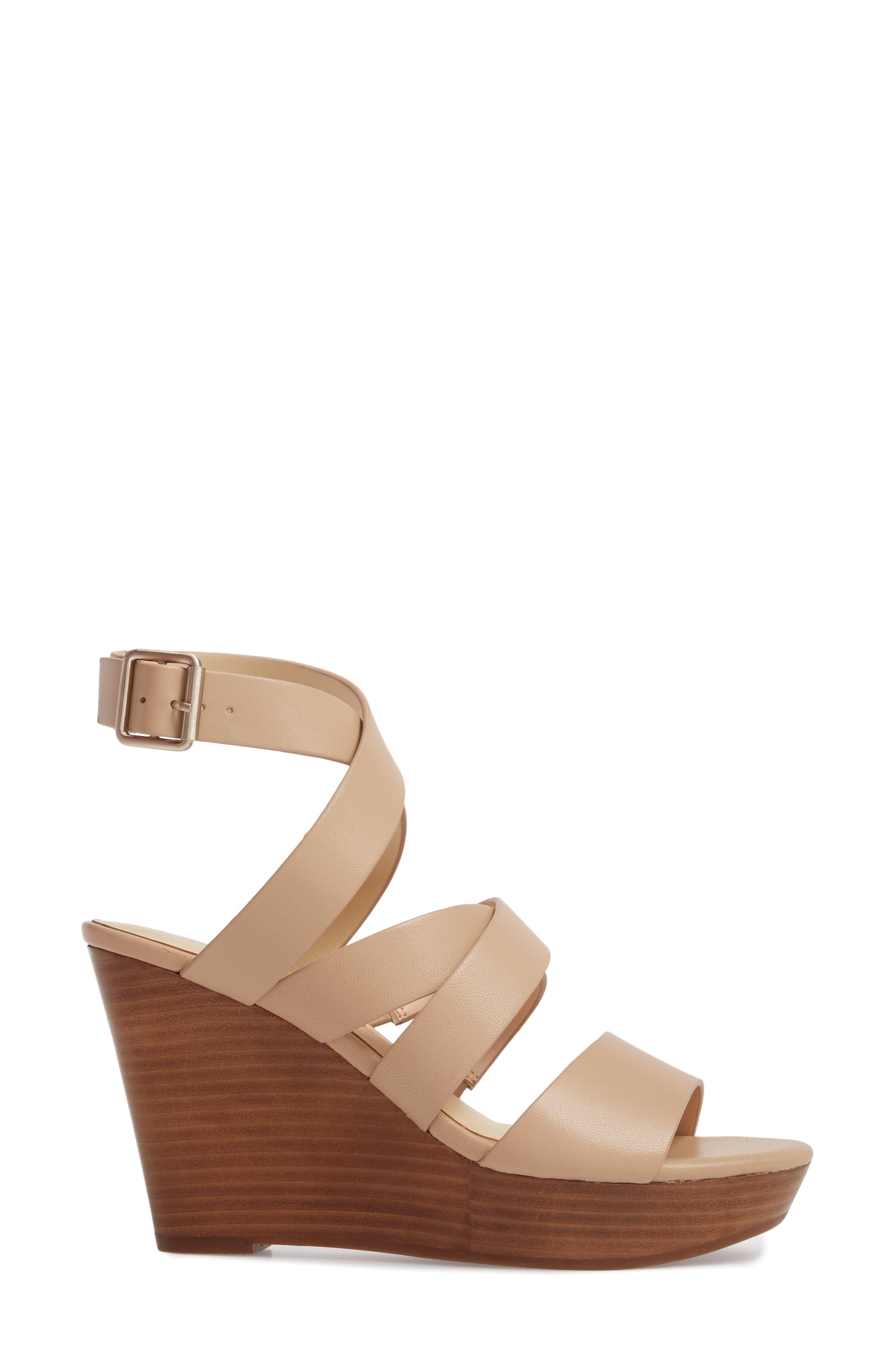 SOLE SOCIETY, Pippy Platform Sandal, Alternate thumbnail 3, color, TAN
