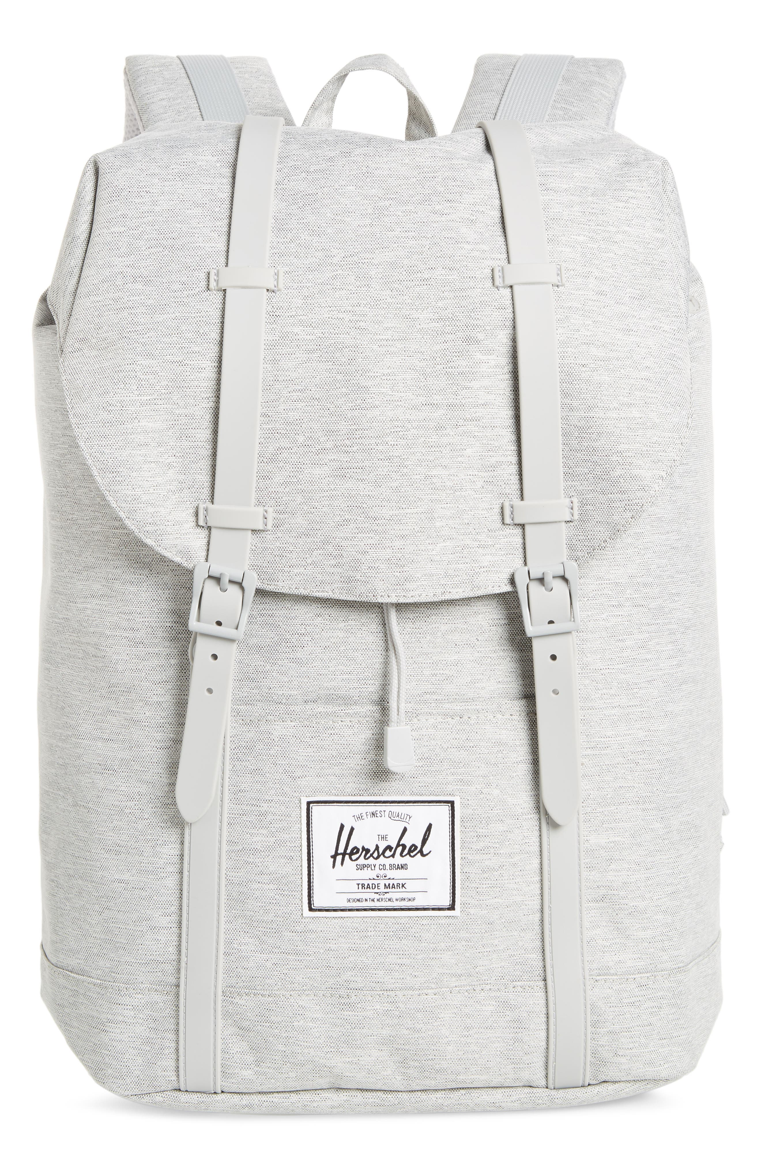 HERSCHEL SUPPLY CO., Retreat Backpack, Main thumbnail 1, color, LIGHT GREY CROSSHATCH/ GREY