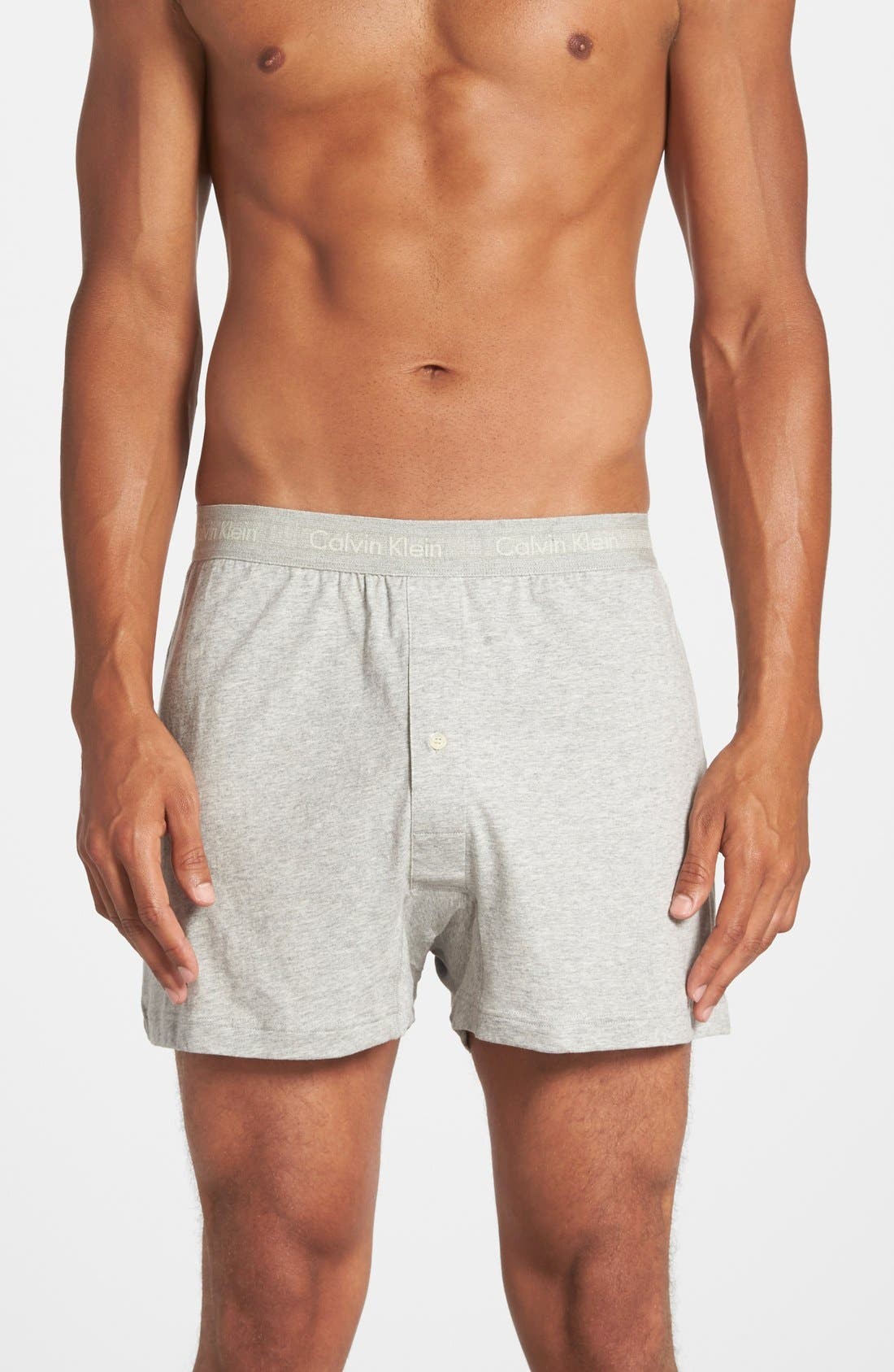 CALVIN KLEIN, 3-Pack Cotton Boxers, Alternate thumbnail 3, color, BLACK/ GREY/ WHITE